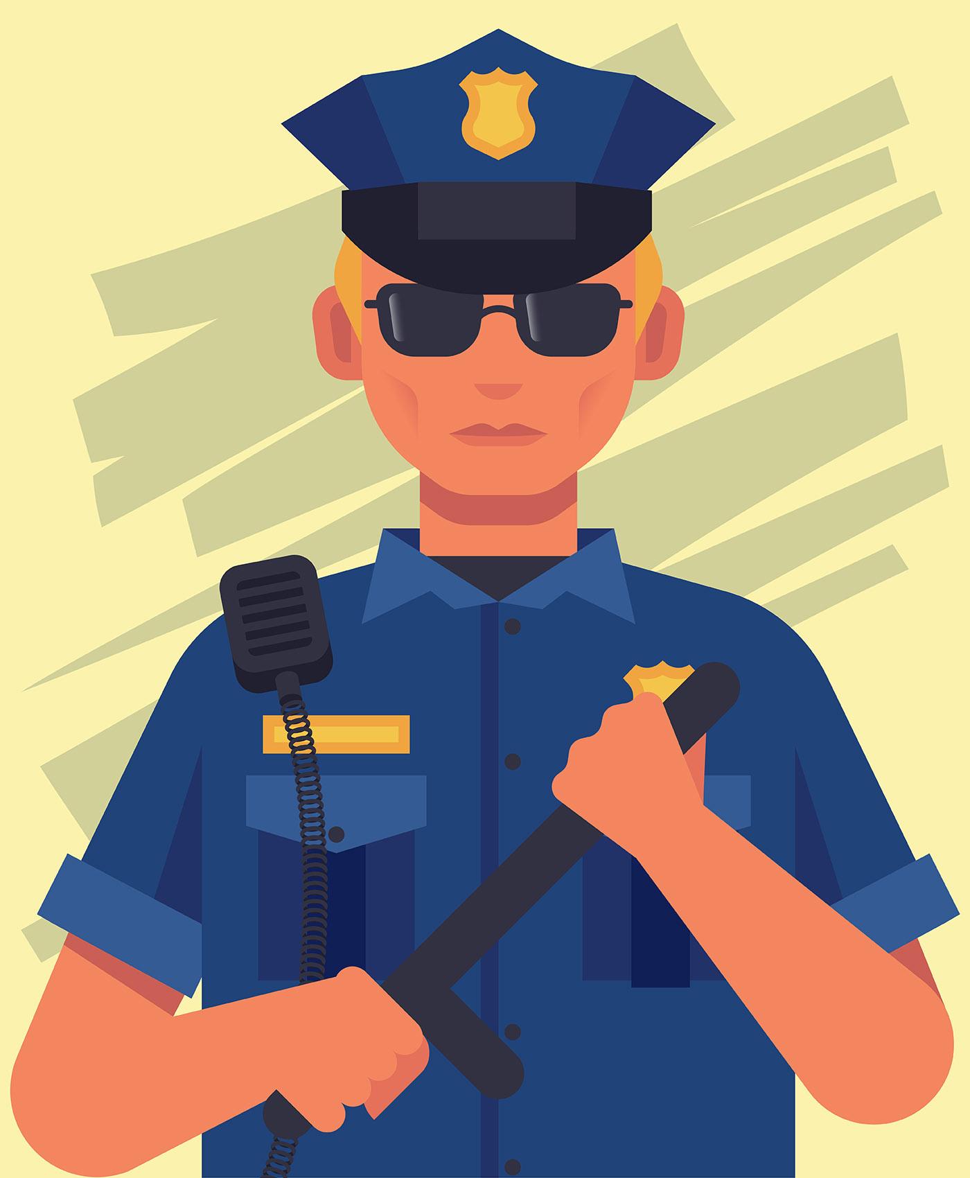 Police Officer Illustration