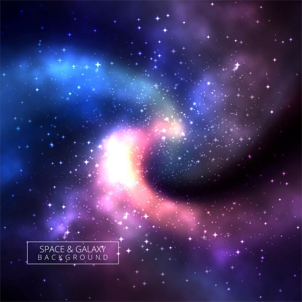 Universe colorful galaxy background illustration ...