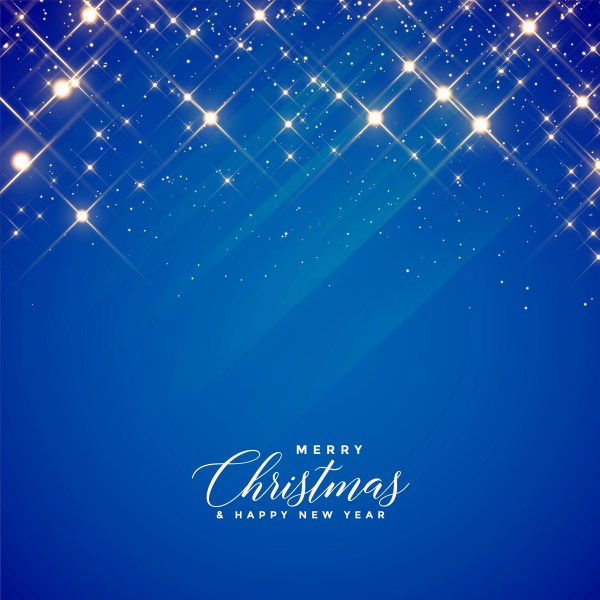 beautiful blue sparkles and stars background for christmas ...