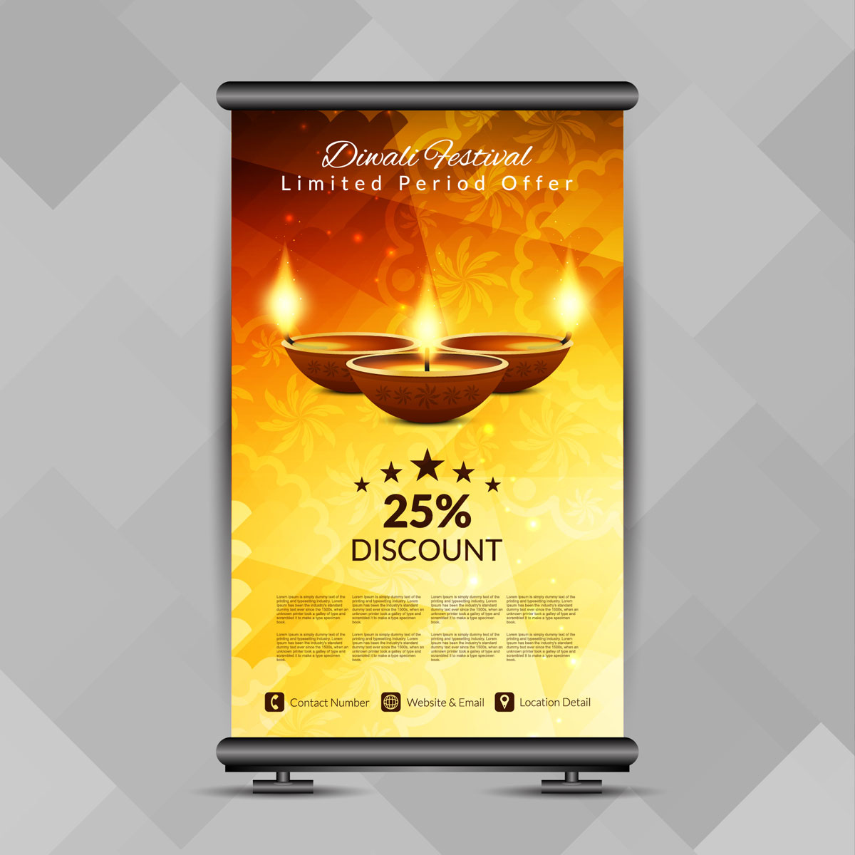 One of my favorite parts of working for benchmark email is the worldwide focus that this company takes. Abstract Stylish Happy Diwali Roll Up Banner Design Template 251476 Vector Art At Vecteezy