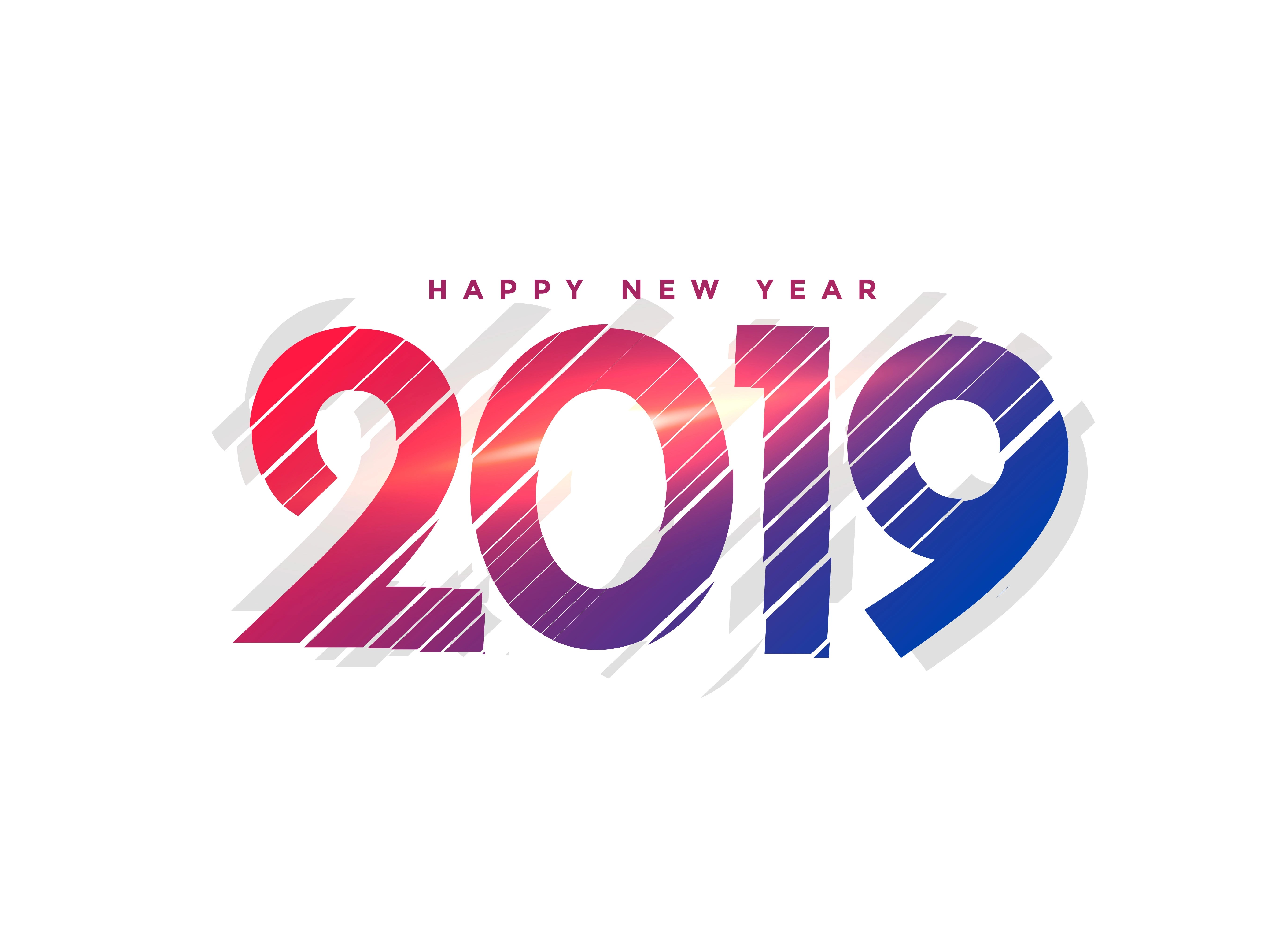 Abstract New Year 2019 Creative Lettering Download Free