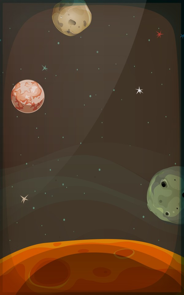 Space Background With Planets And Stars For Mobile ...