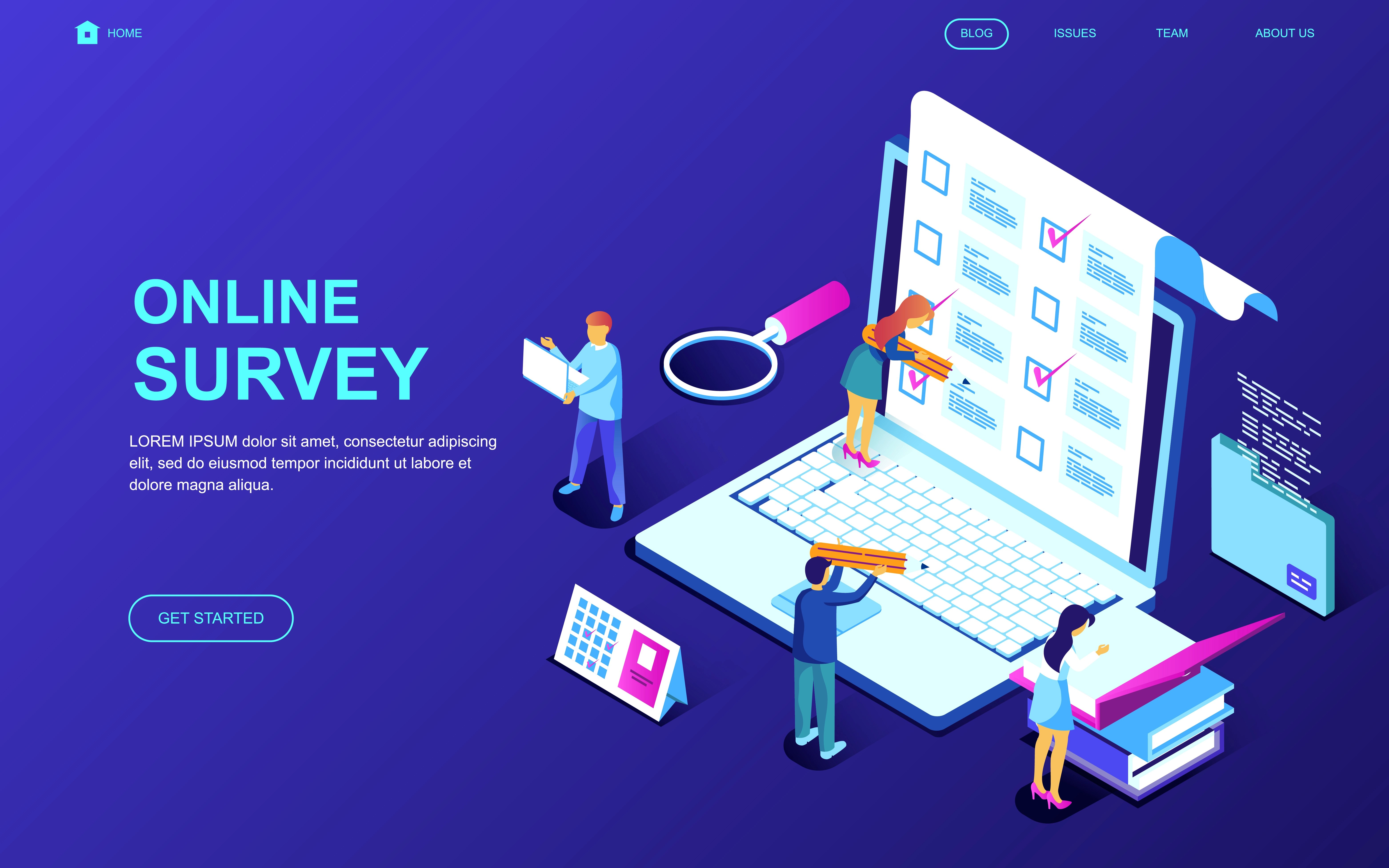 Online Survey Web Banner Download Free Vector Art Stock Graphics Amp Images