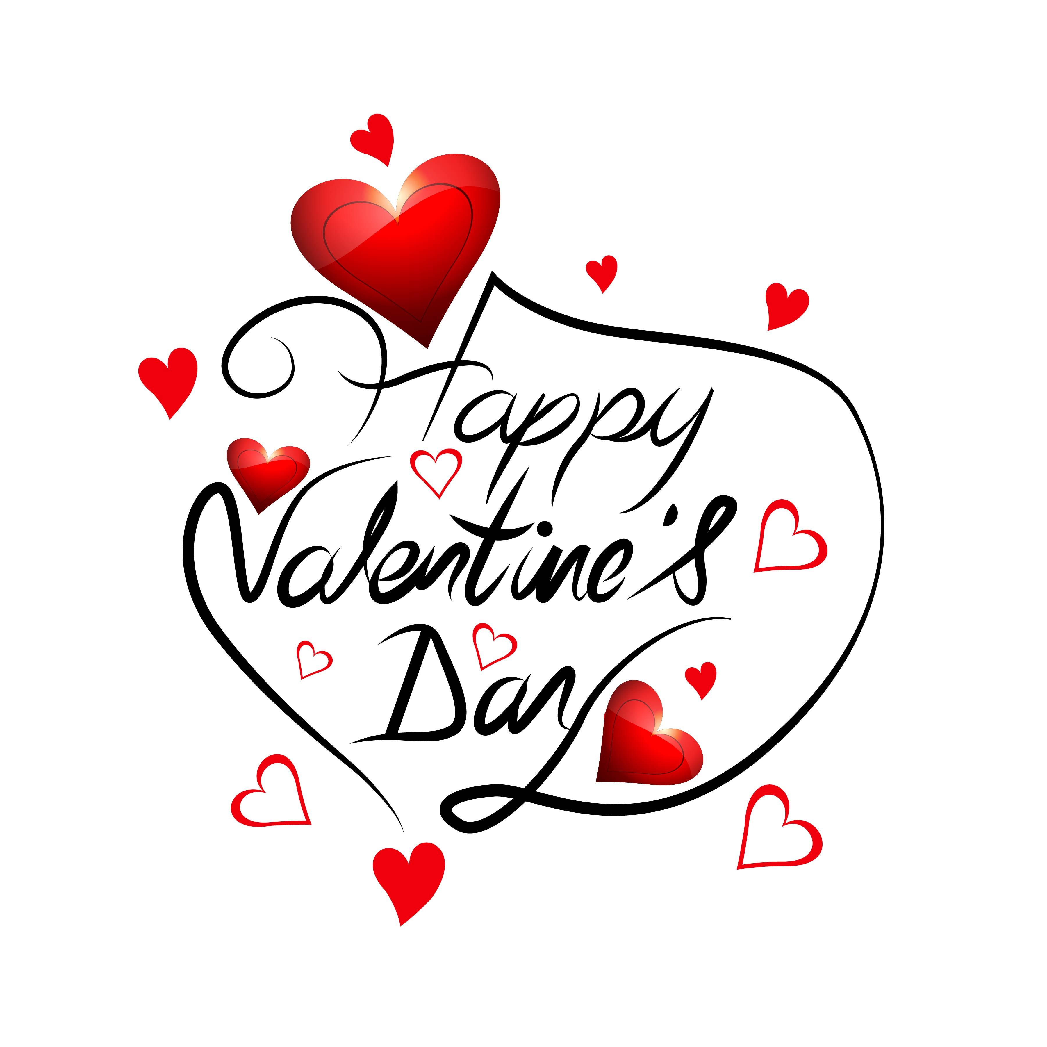 Elegant Happy Valentine S Day Love Card Heart Design