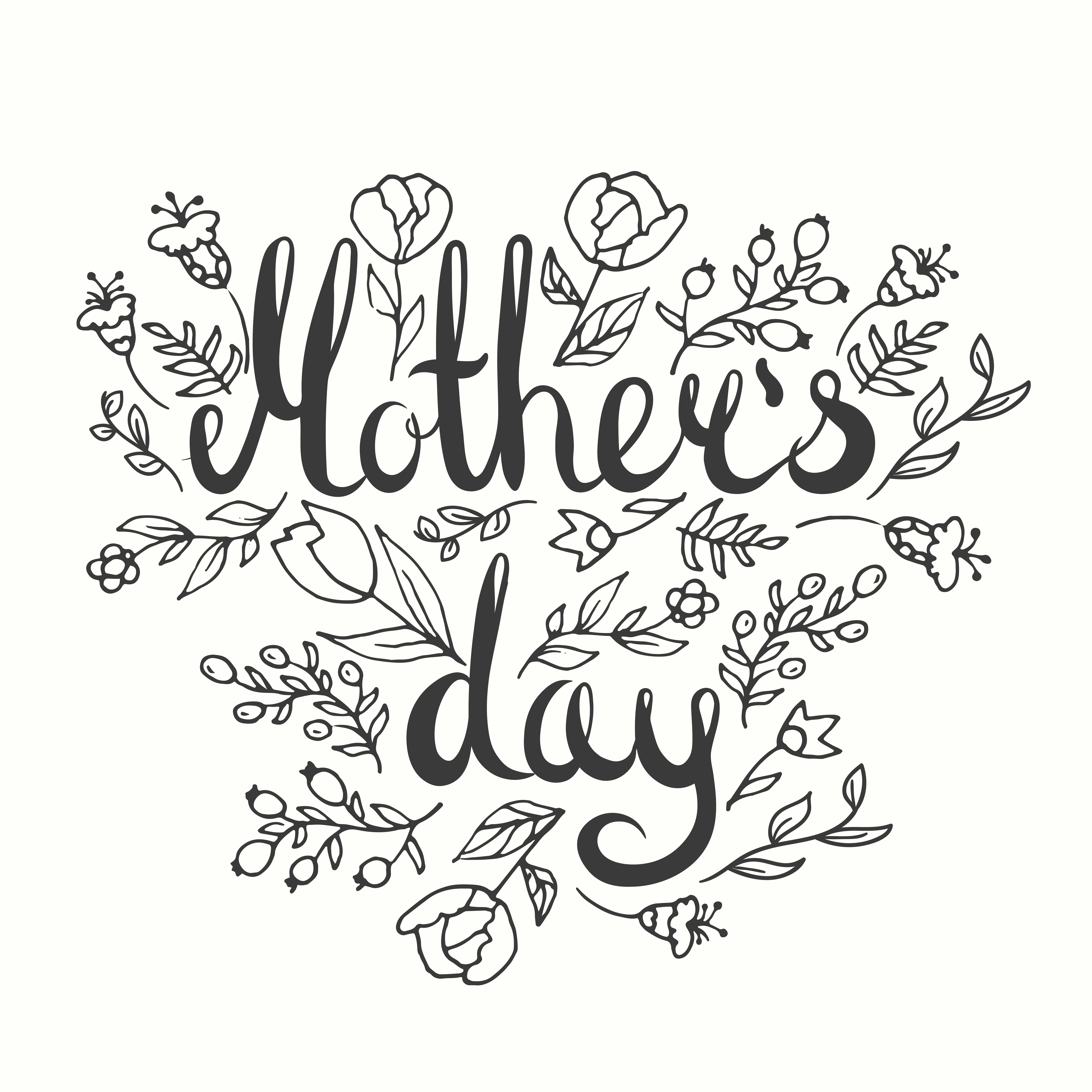 Mothers Day Lettering Card
