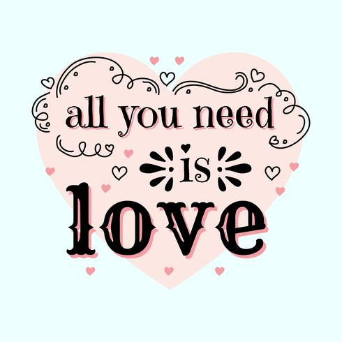 Download All You Need Is Love Vector - Download Free Vectors ...