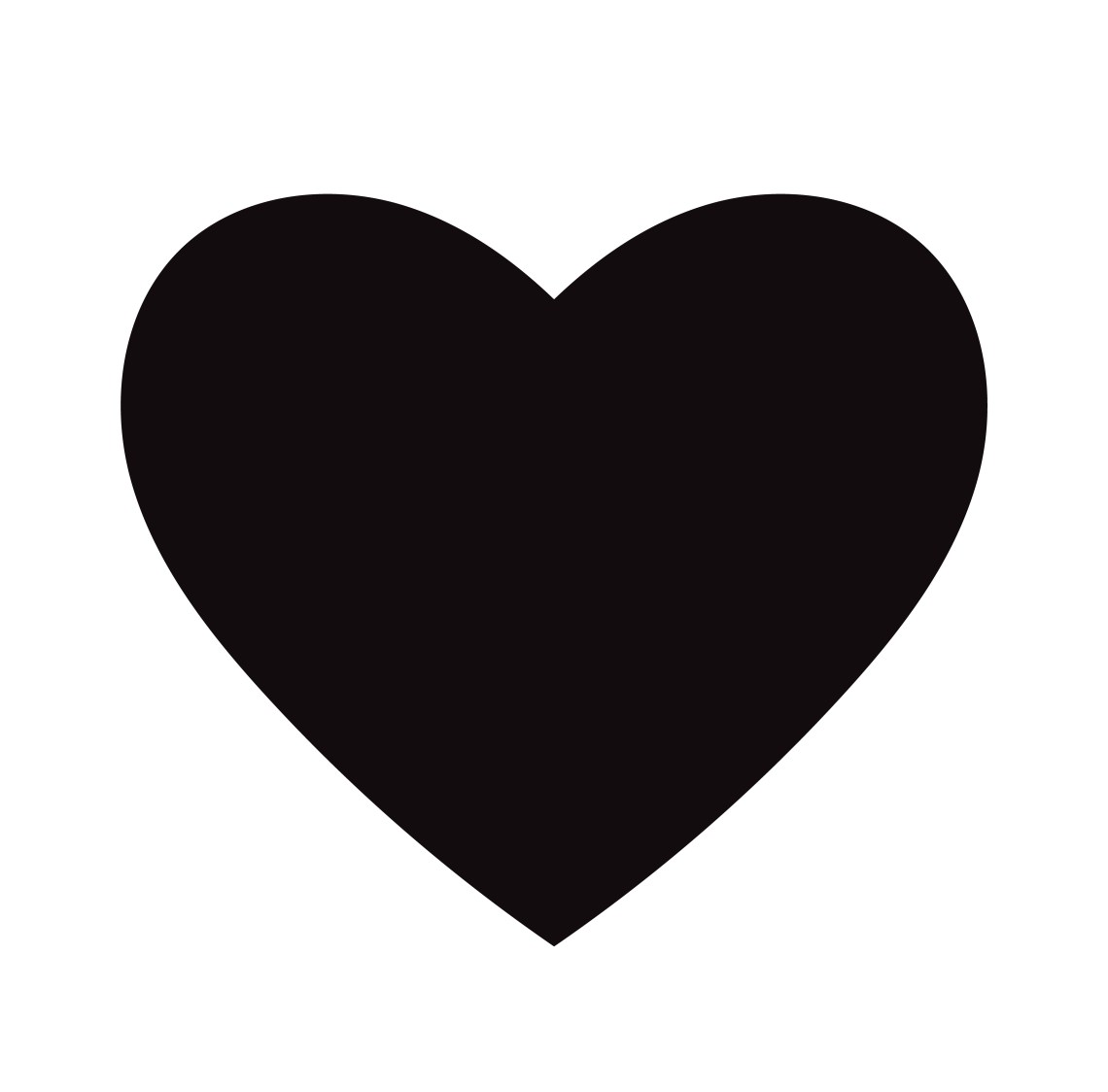 Download Flat Black Heart Icon Isolated on White Background. Vector ...