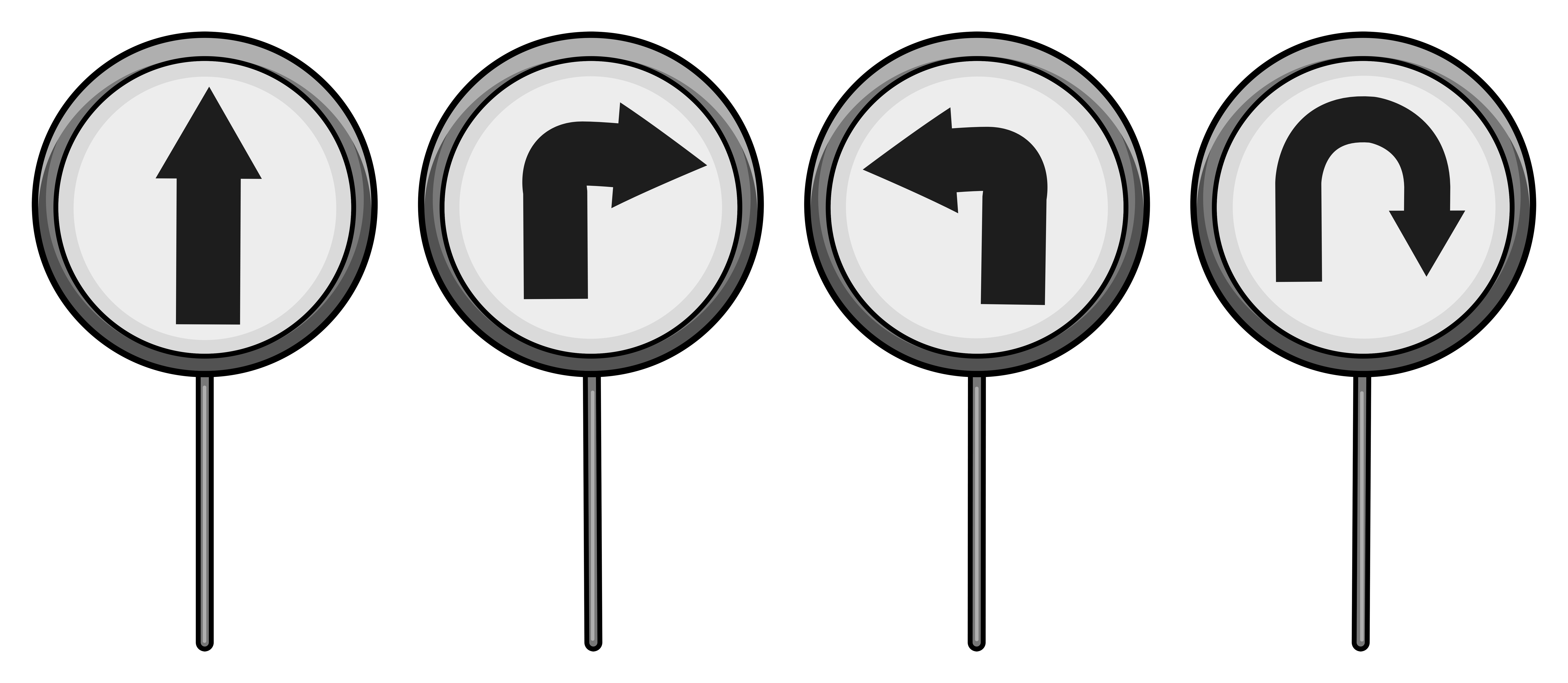 Directional Signage Free Vector Art