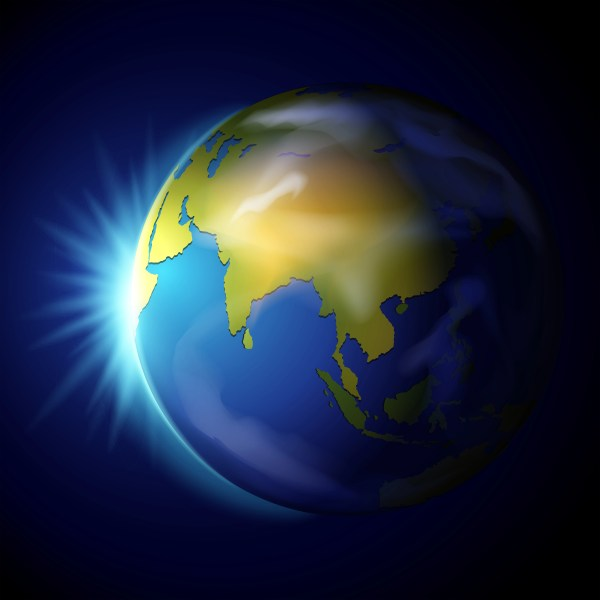 Planet Earth on Blue Background - Download Free Vectors ...