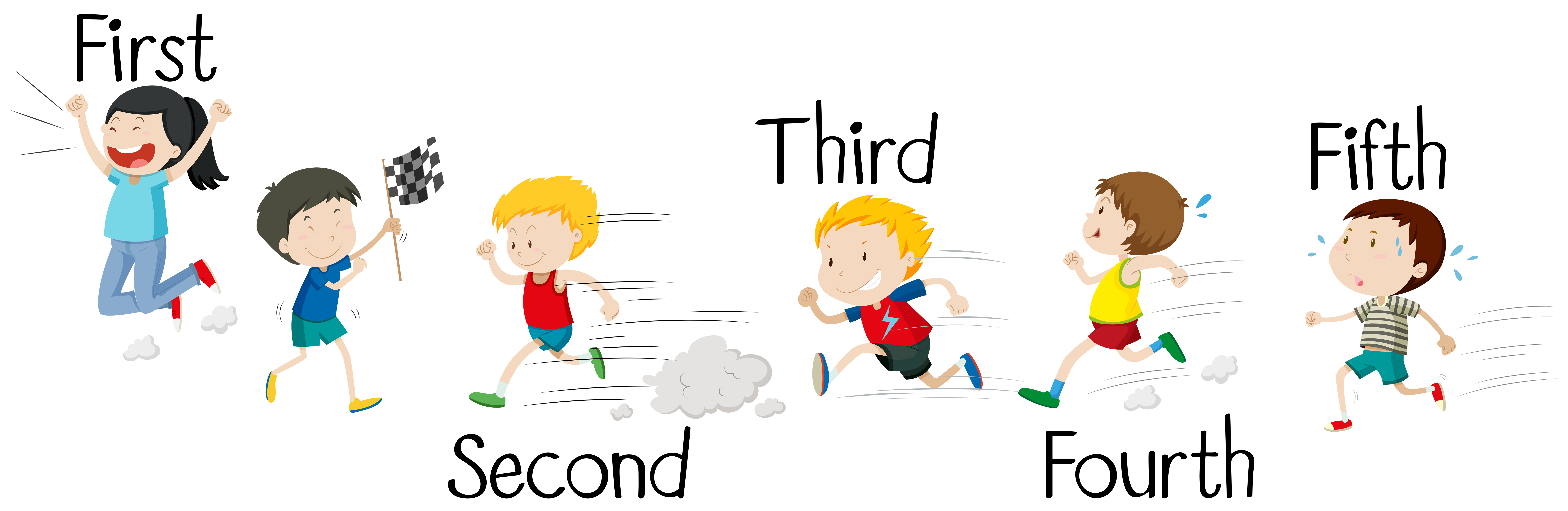 Kids Racing Free Vector Art