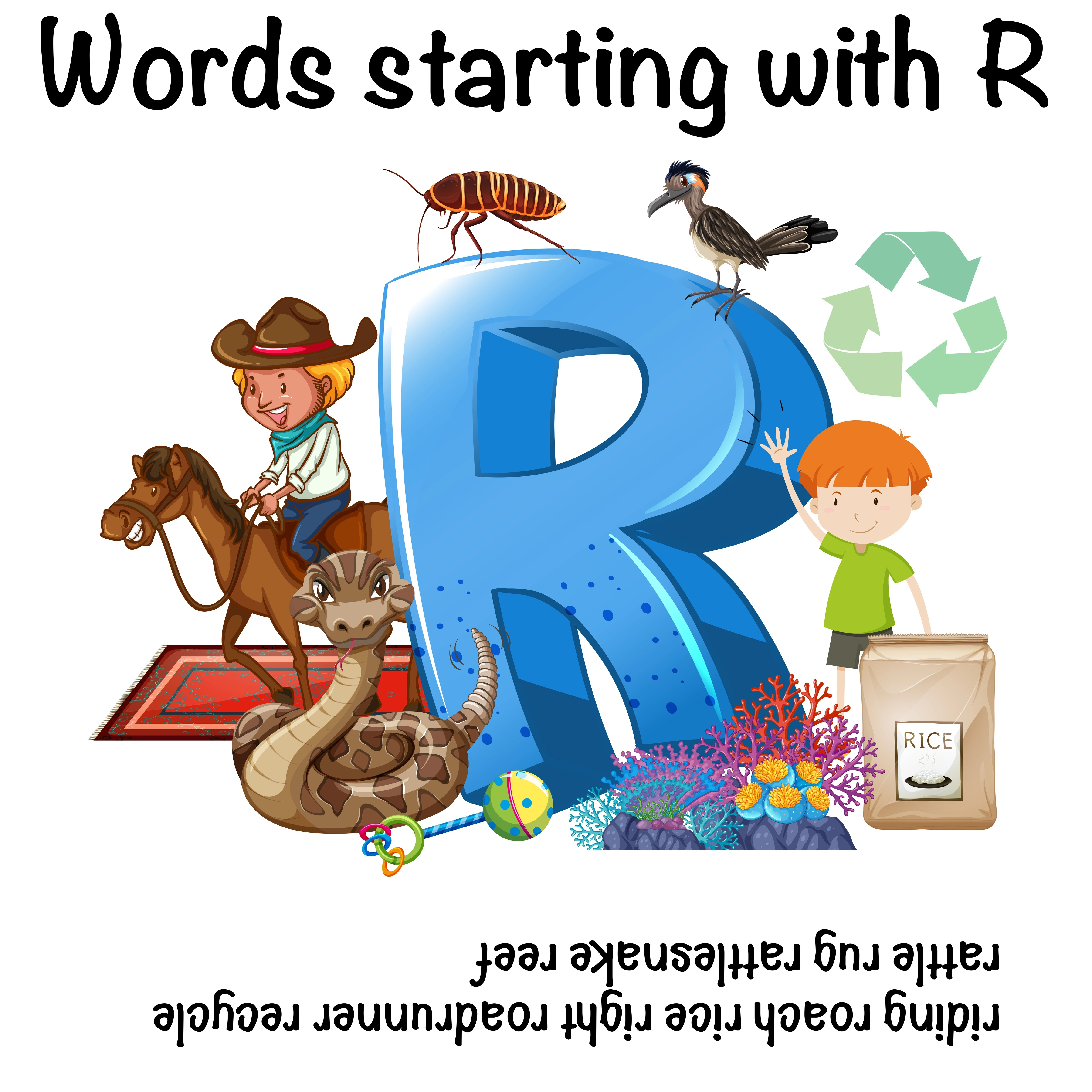 English Words Starting With The Letter R