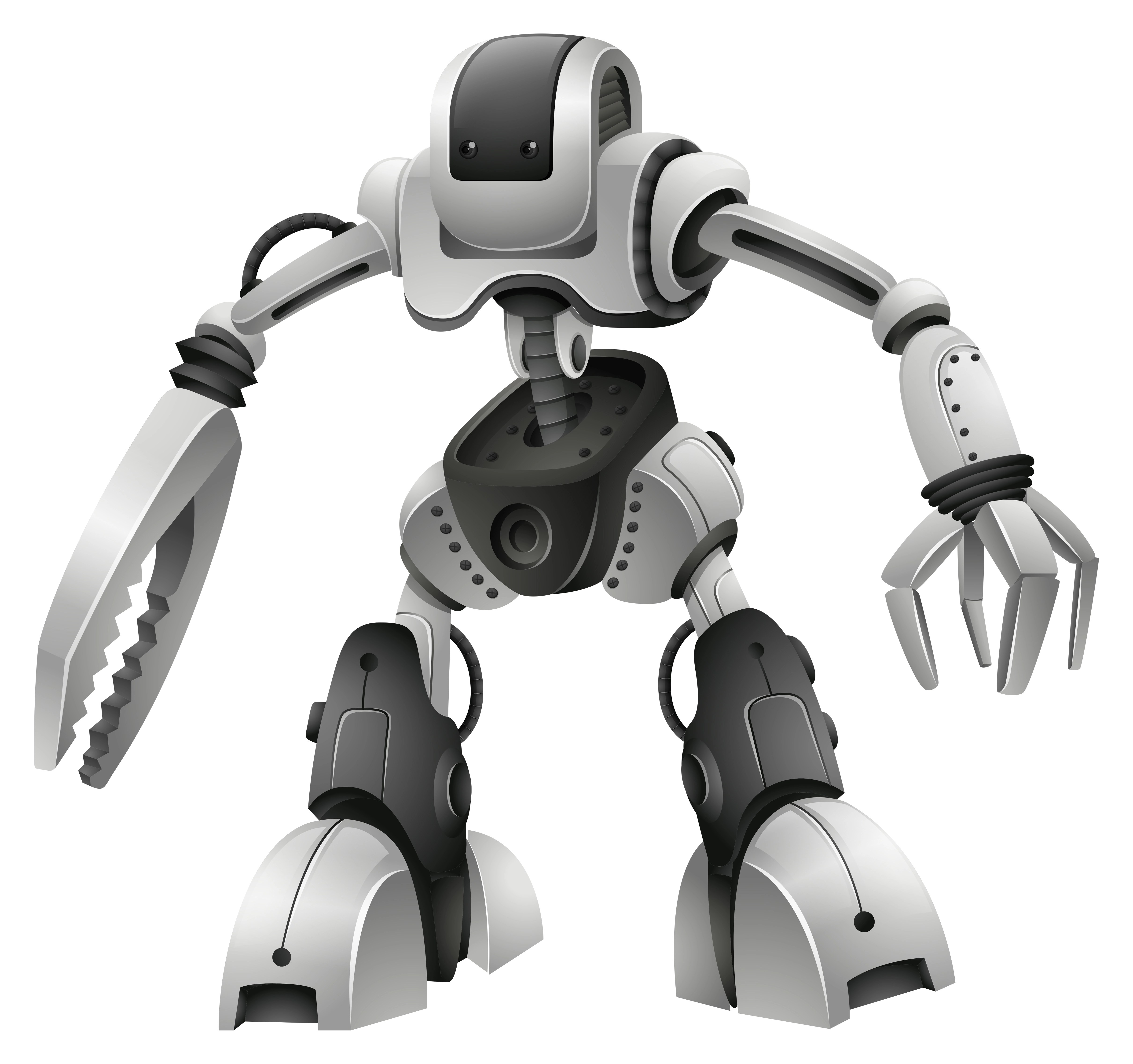 Robot Design With Weapon Hands
