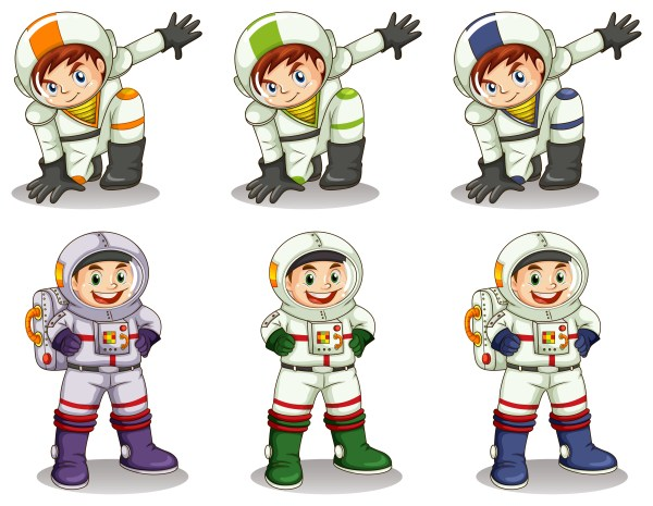 Young astronauts Download Free Vector Art Stock
