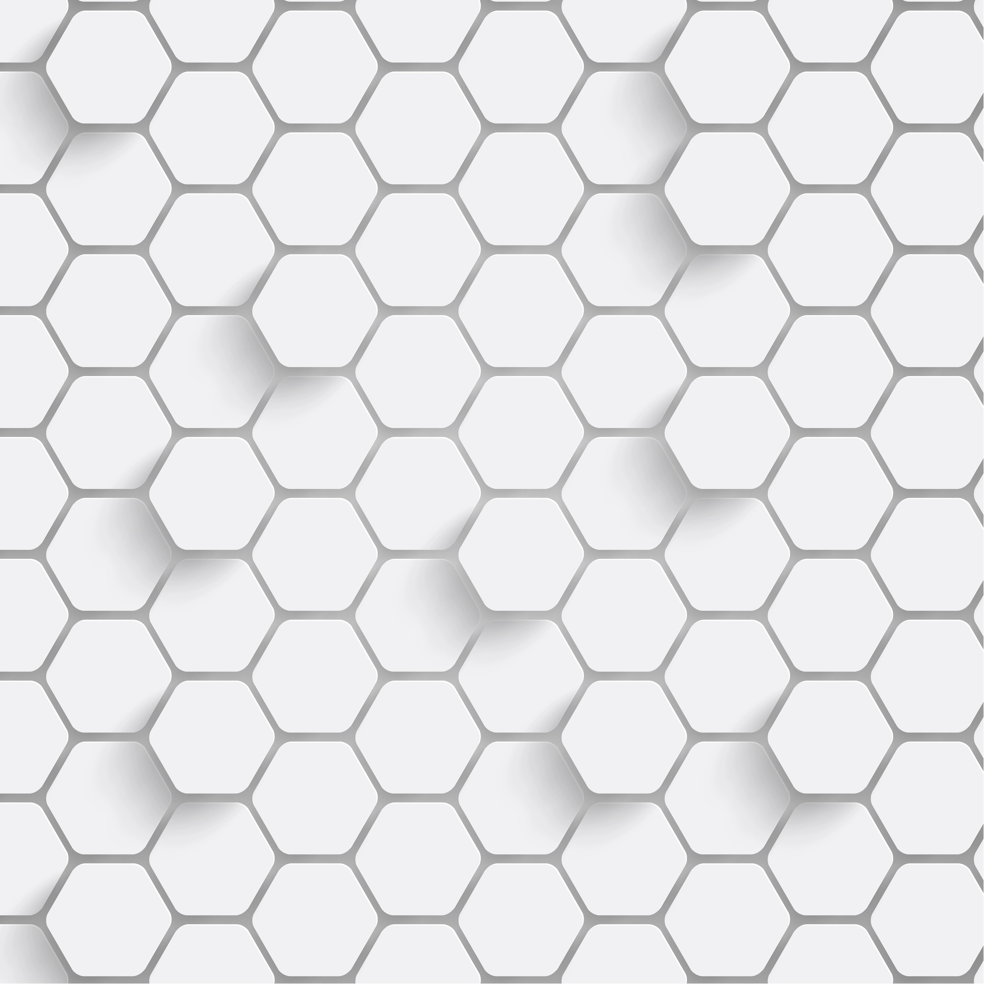 Paper Hexagon Background With Drop Shadows Vector