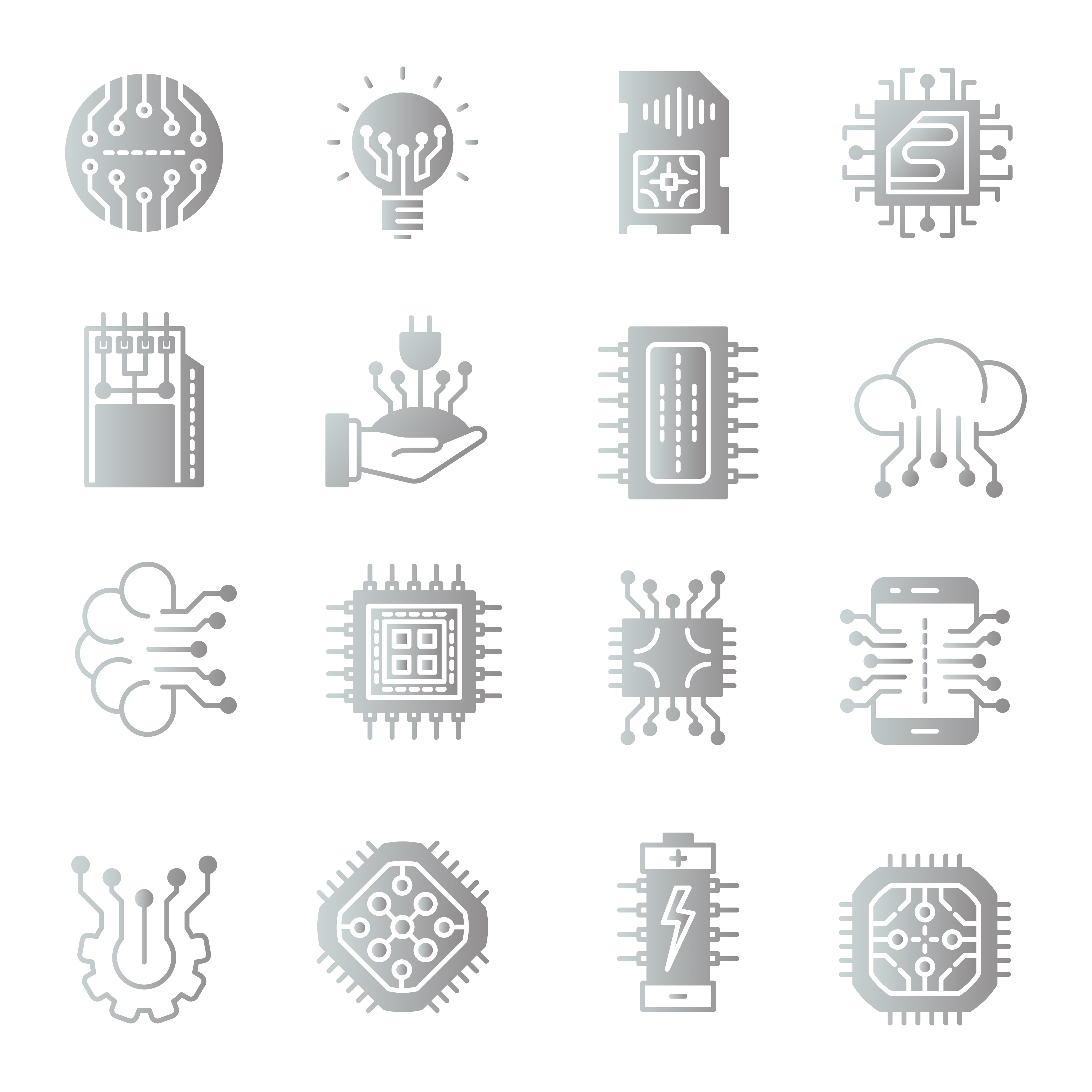 Electronic Components Free Vector Art