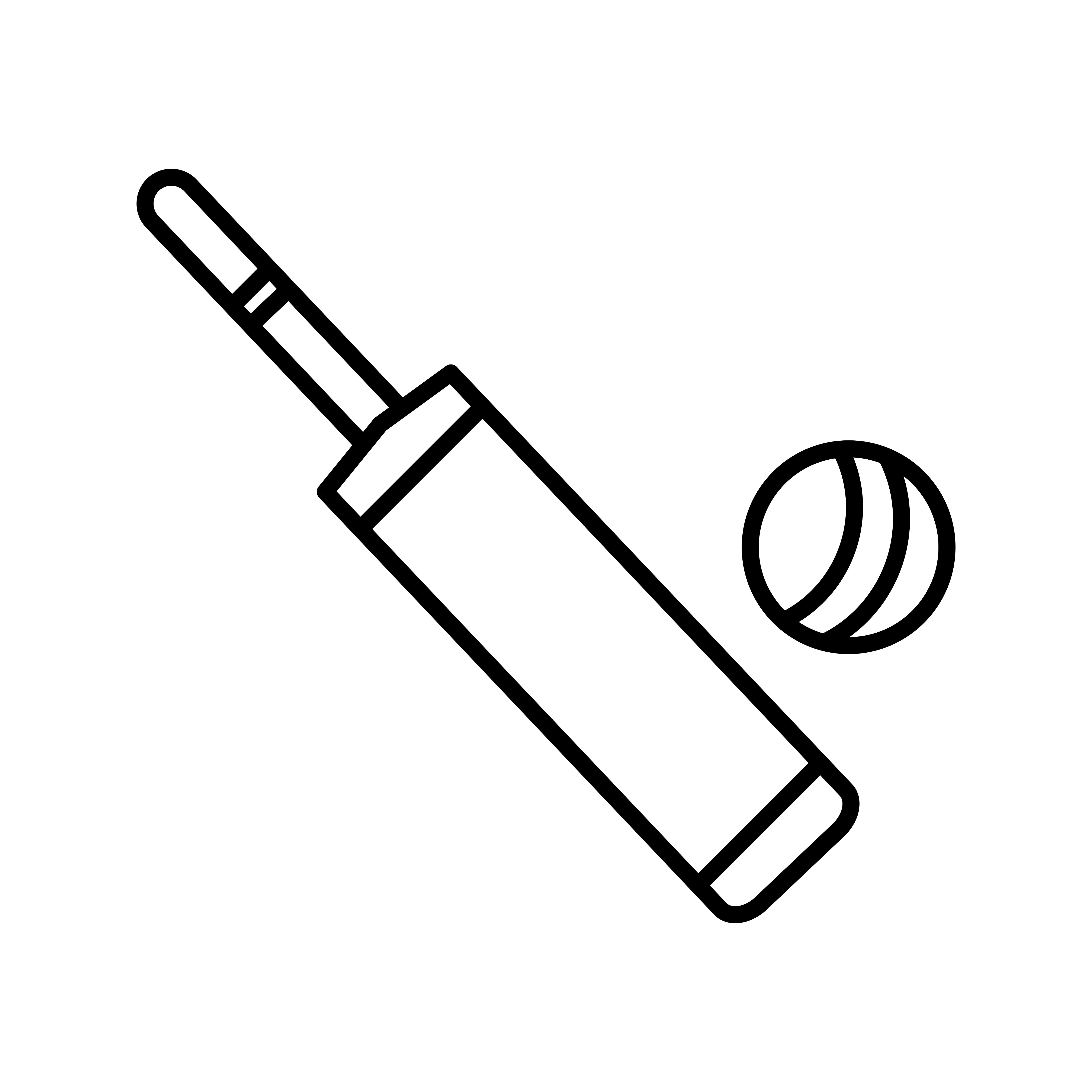 Bat And Ball Line Black Icon