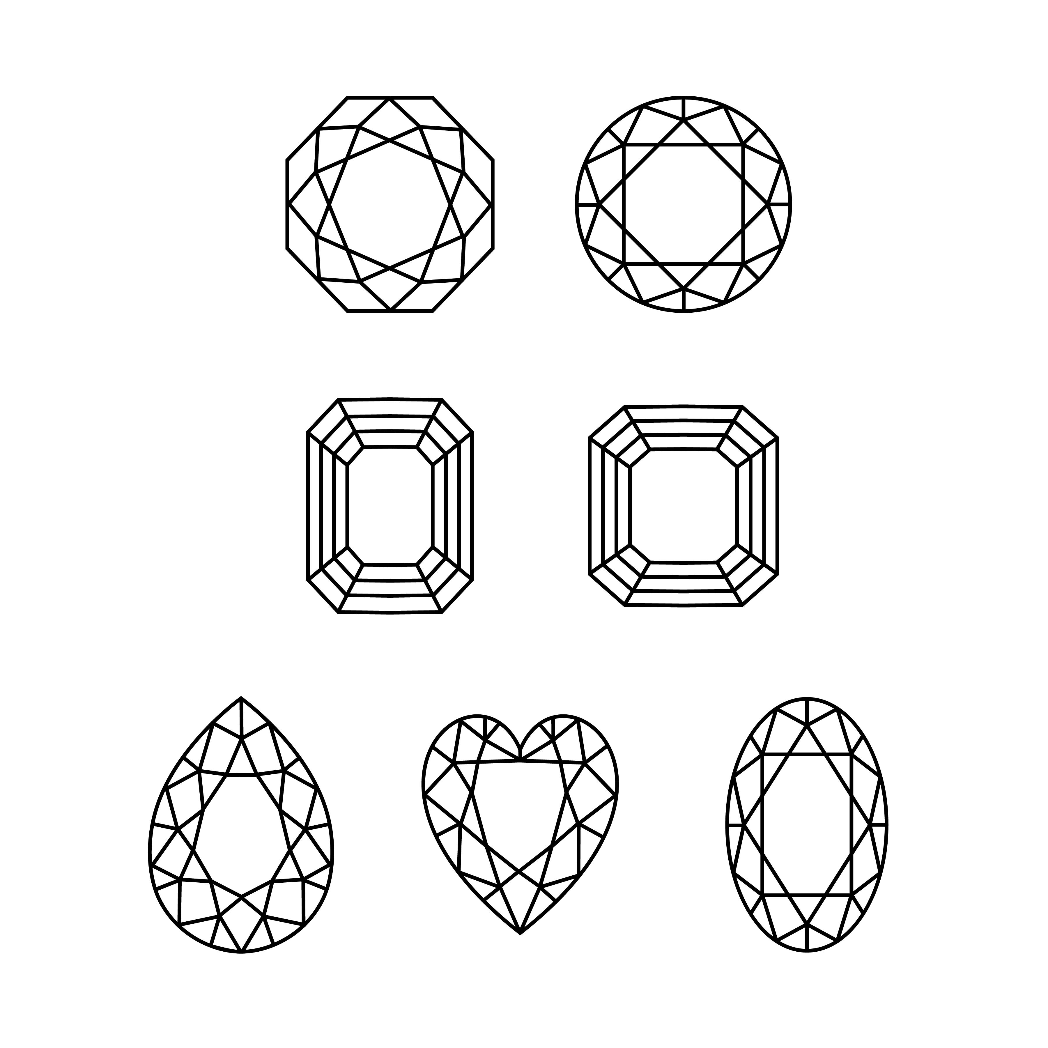 Gemstone Outline Clipart