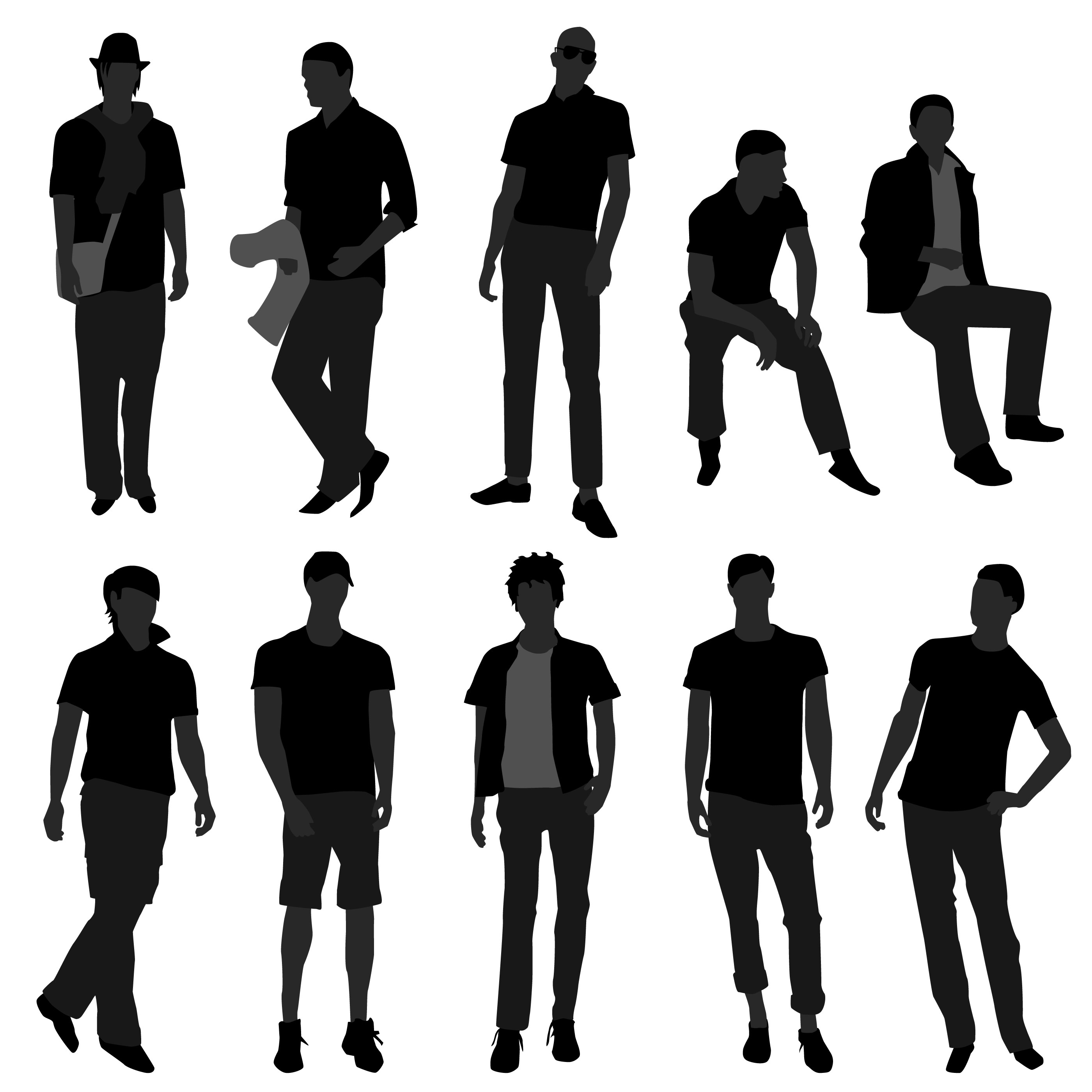 Male Fashion Shopping Models