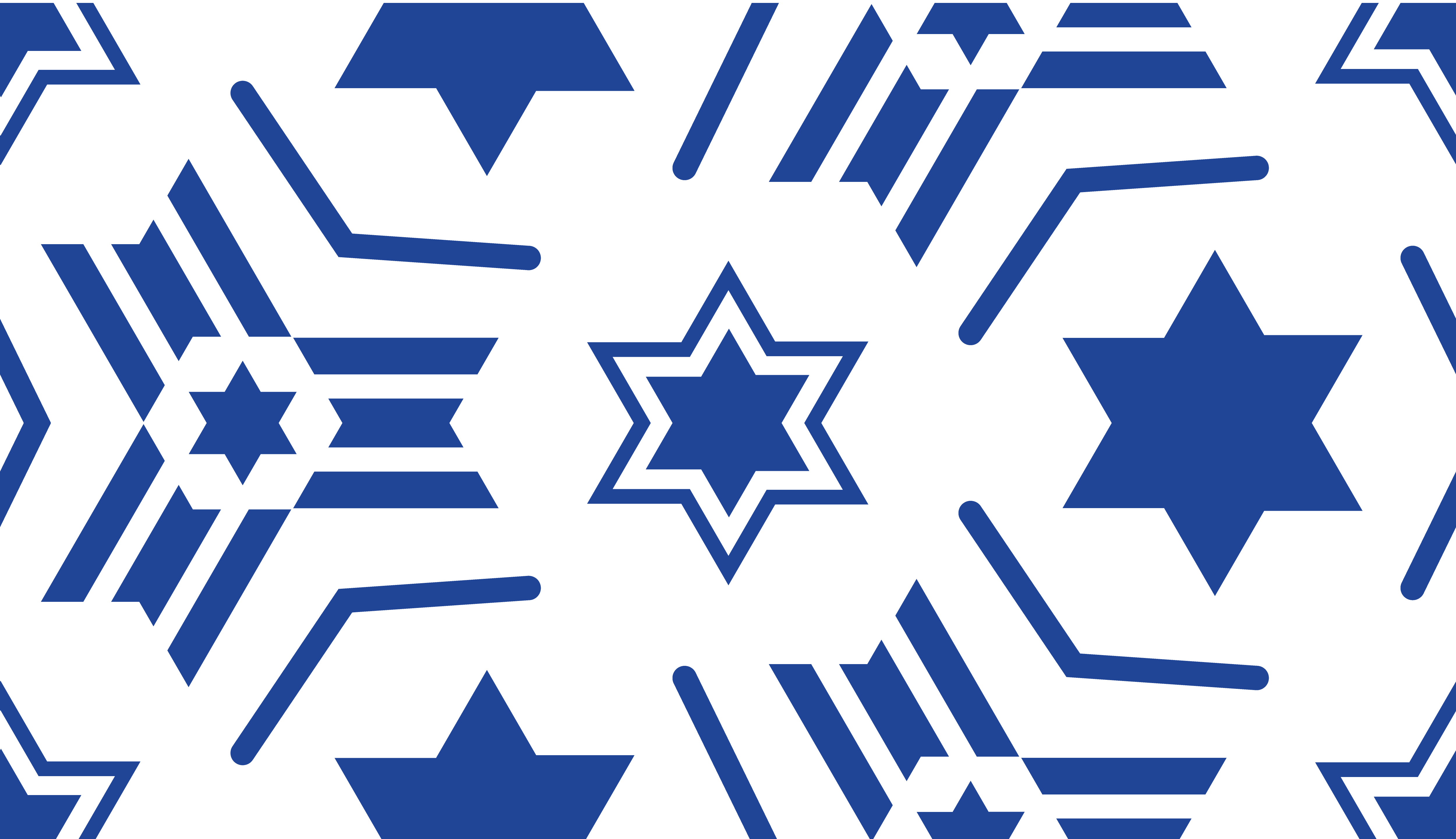 Seamless Pattern With A Blue Star Of David