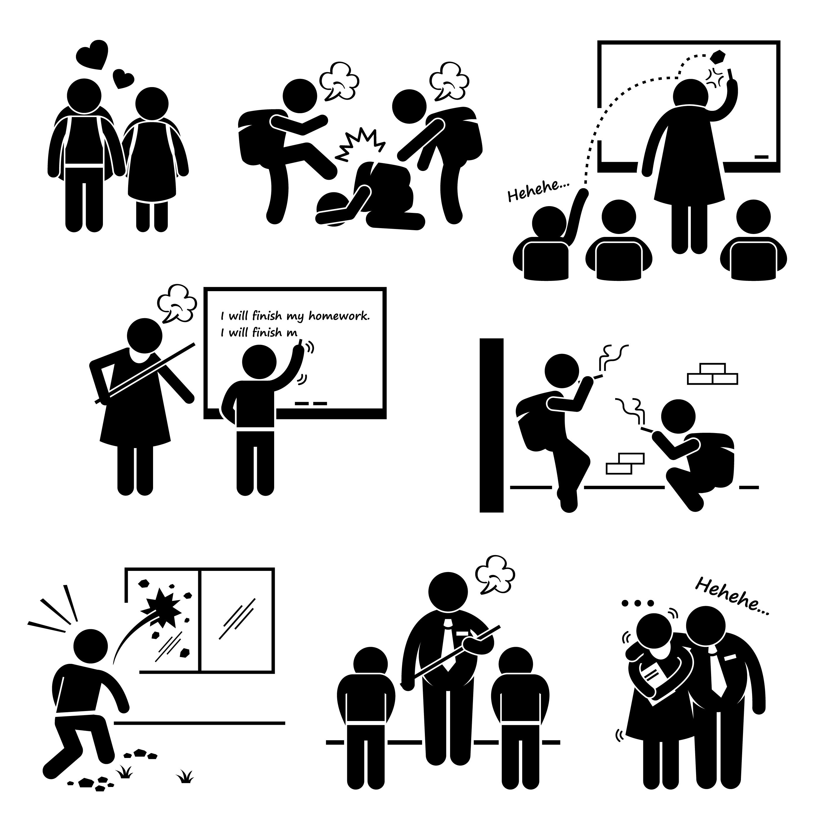 School Education Social Problem Student Teacher Stick