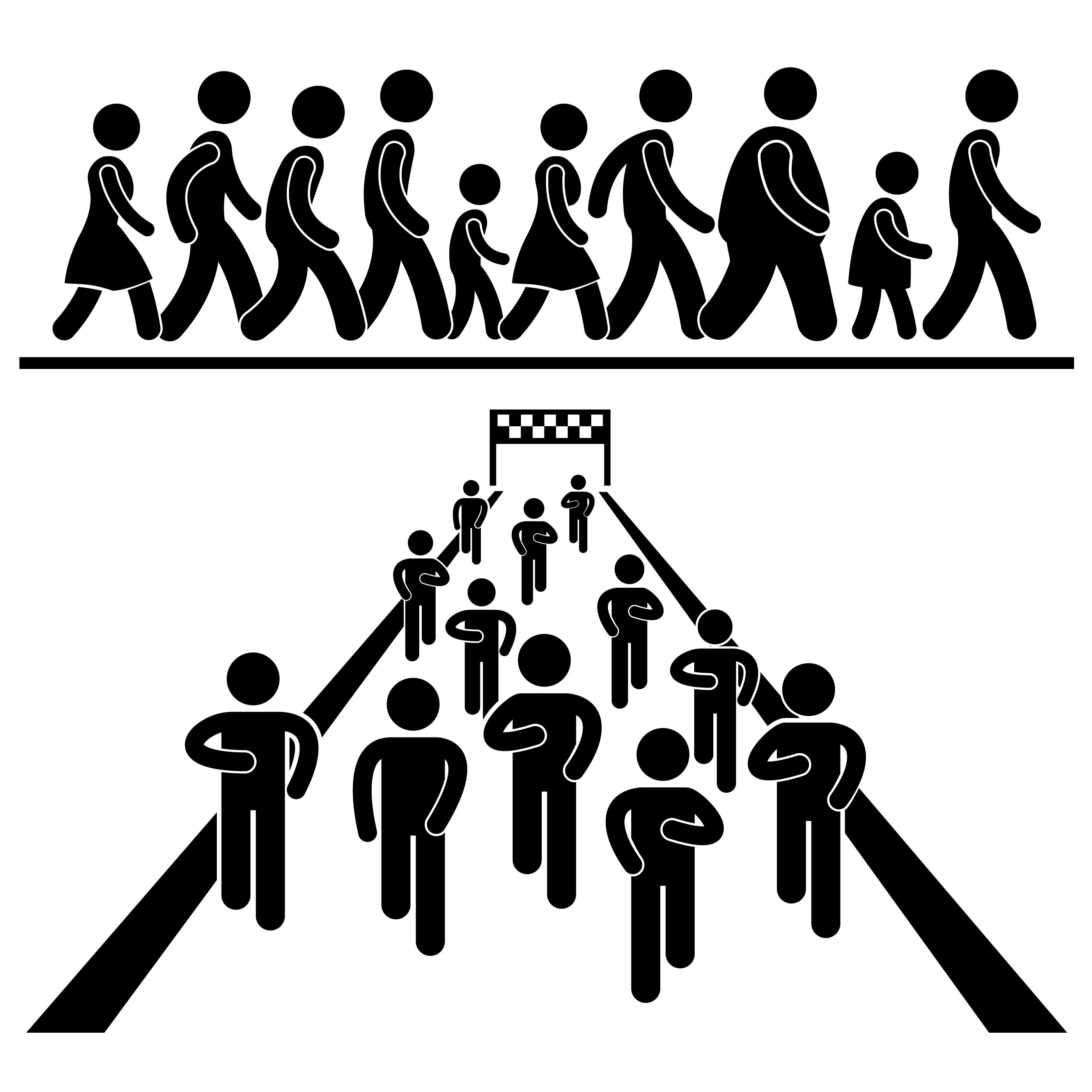 Community Walk And Run Marching Marathon Rally Stick