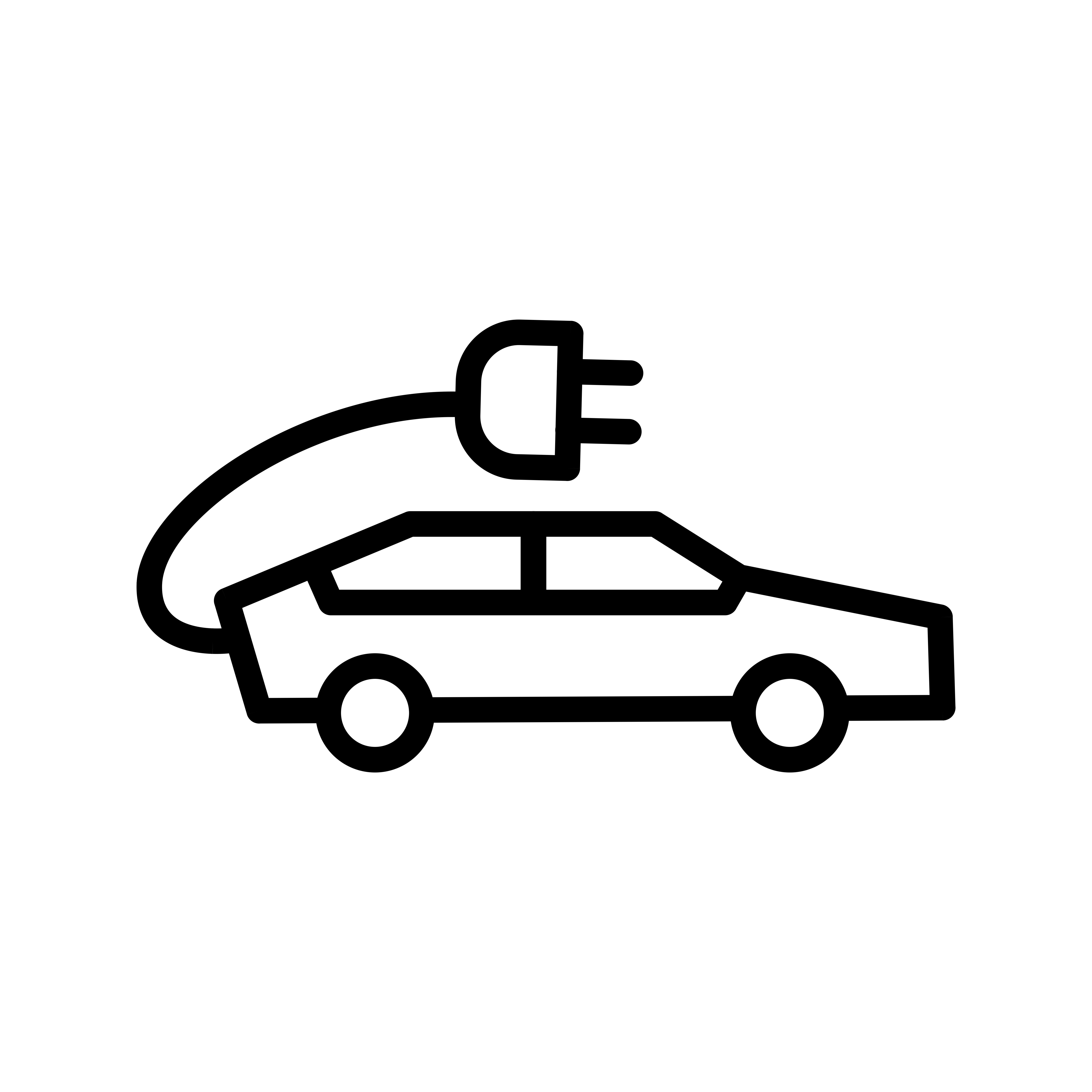 Electric Car Vector Icon