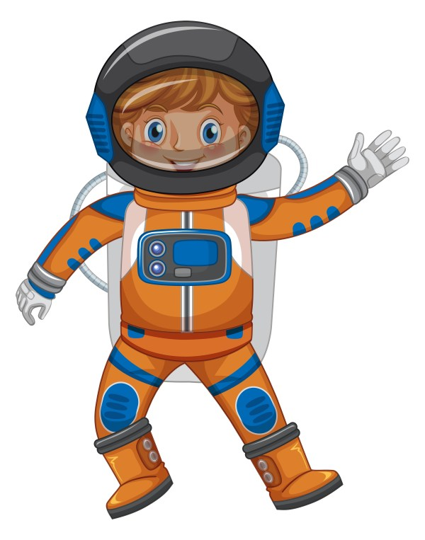 Kid in astronaut outfit on white background - Download ...