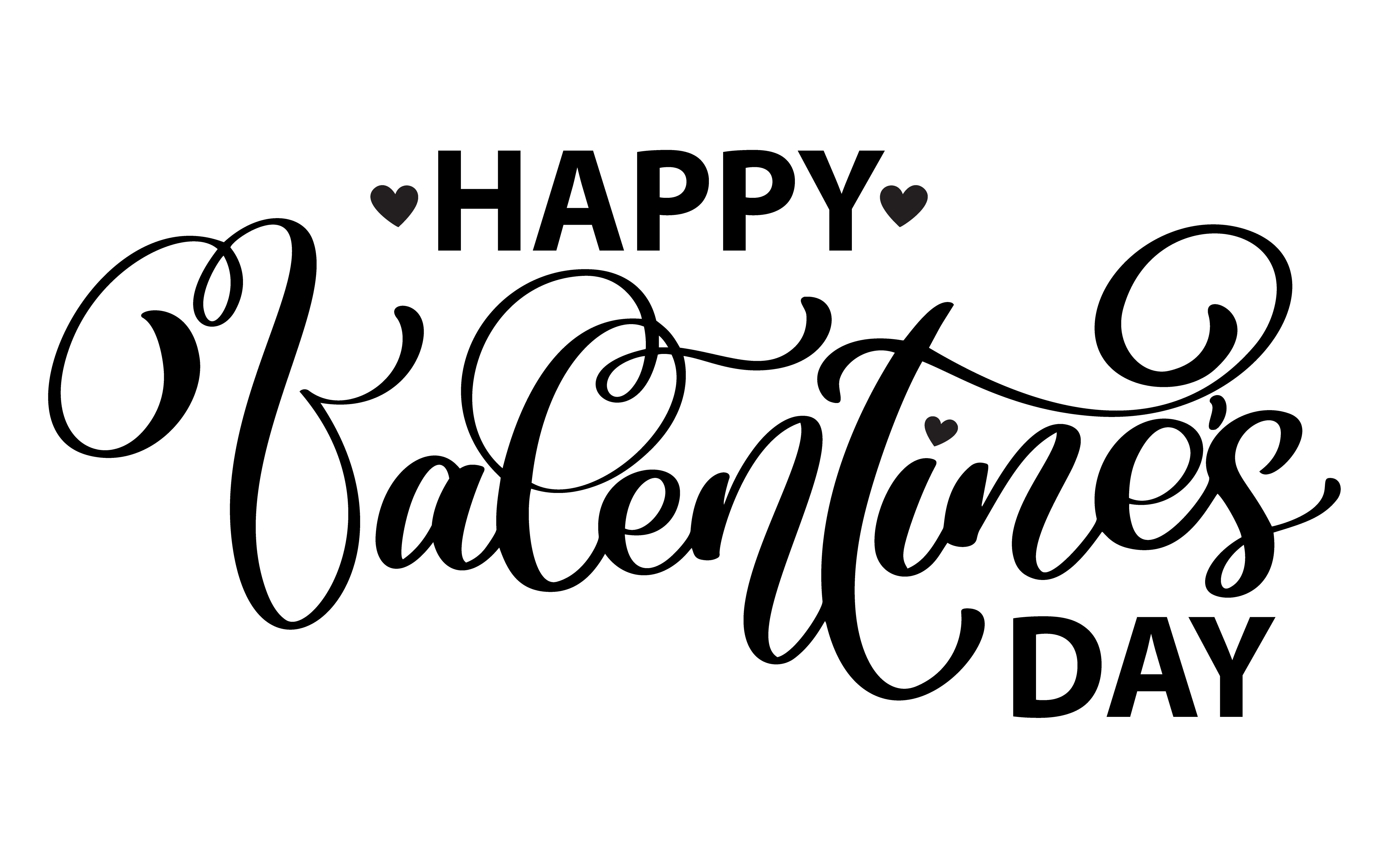 Cartel De Tipografia De Feliz Dia De San Valentin