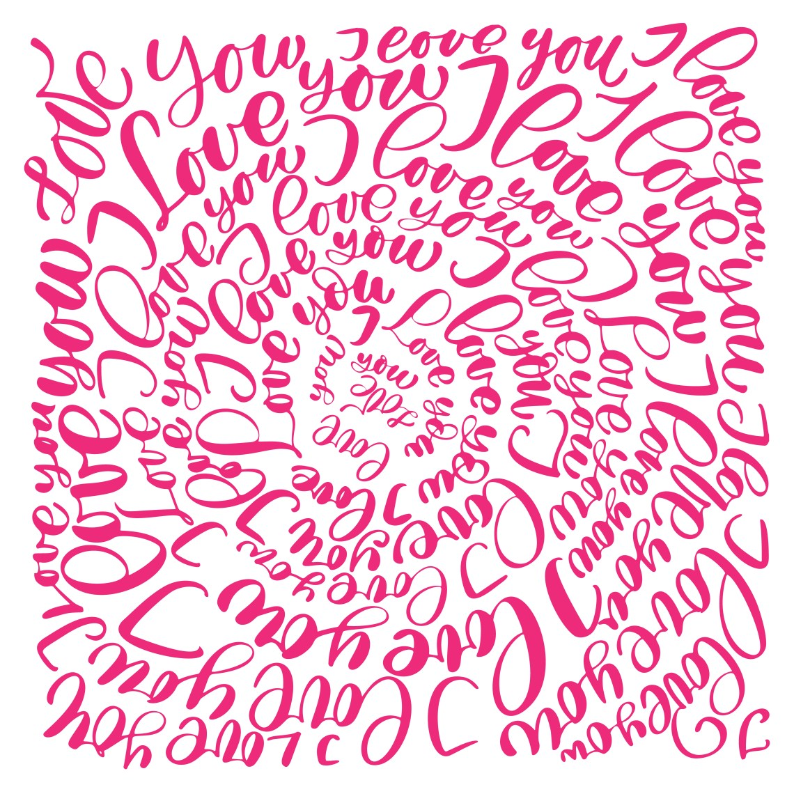 Download I love you. Vector Valentines Day text circle calligraphy ...