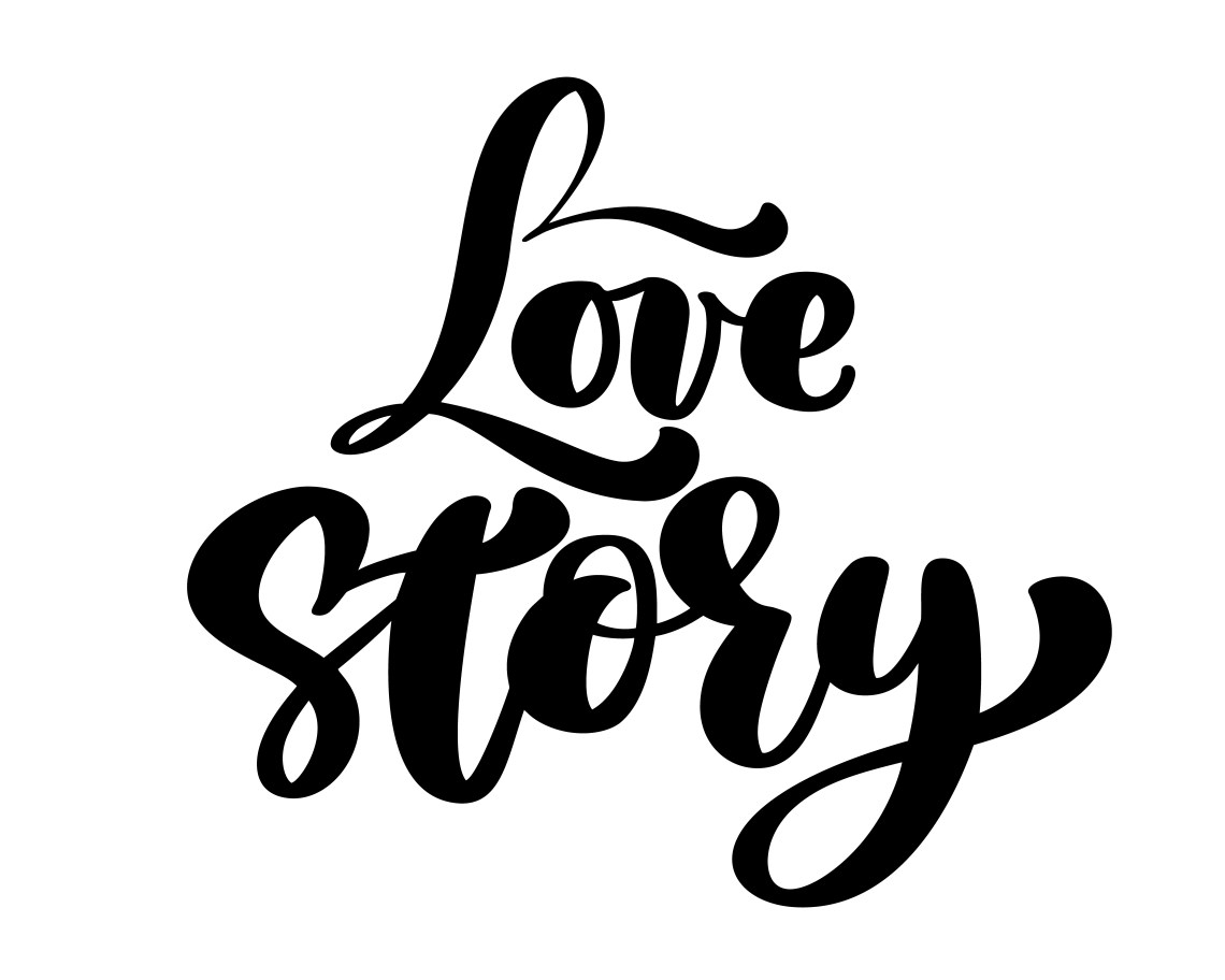 Download Words Love Story. Vector inspirational isolated quote ...