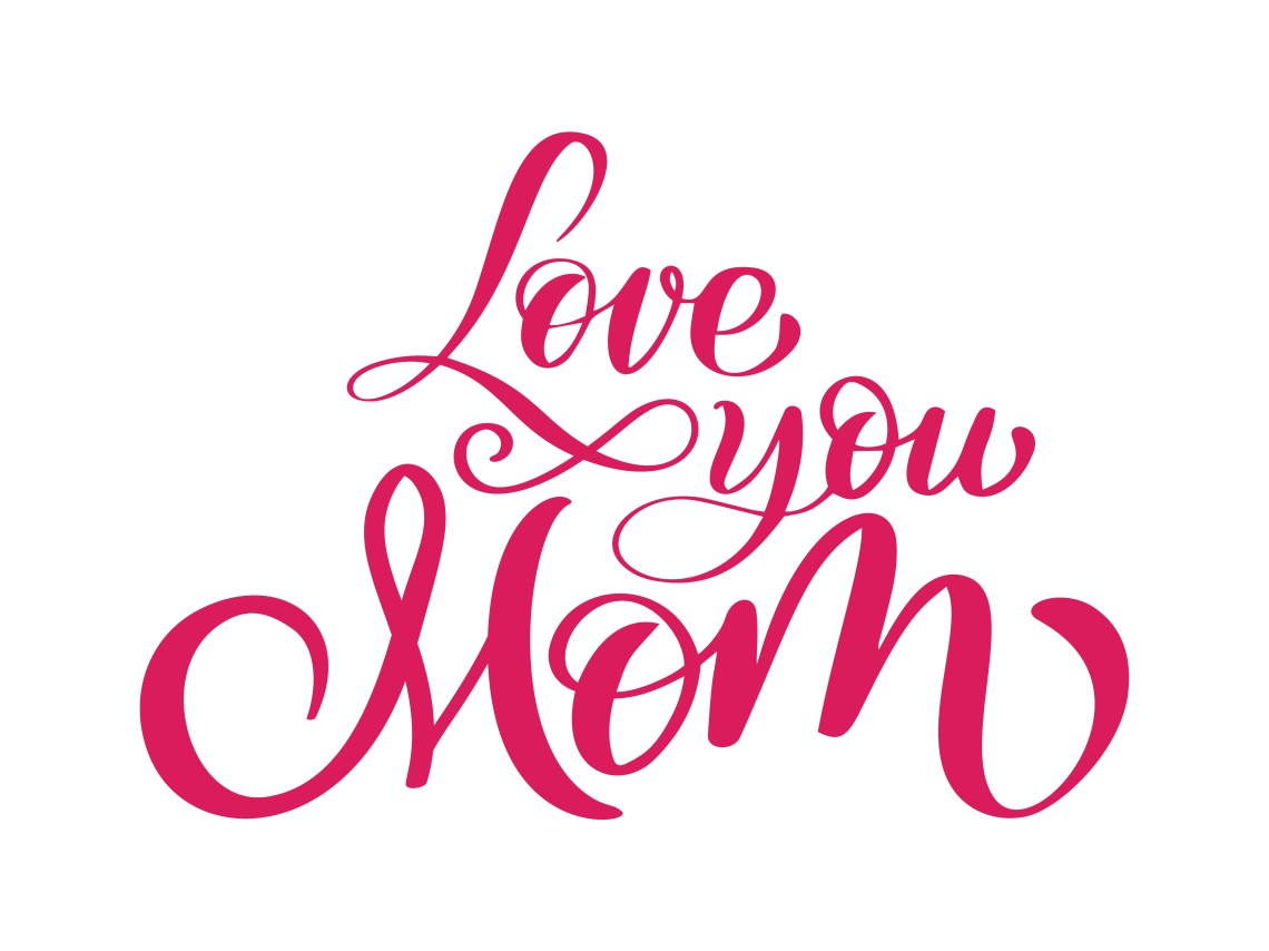 Download love you mom card. Hand drawn lettering design. - Download ...