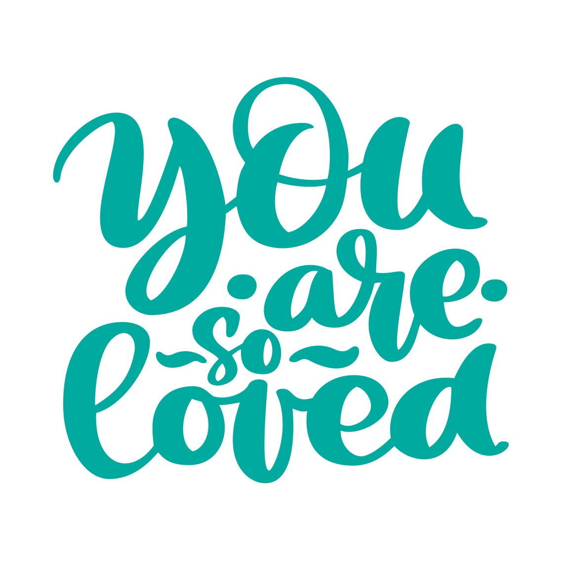 Download You are so Loved text handwritten lettering romantic quote ...