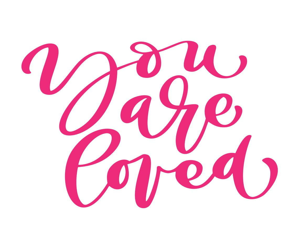 Download you are loved Vector Valentines Day love text. Hand drawn ...