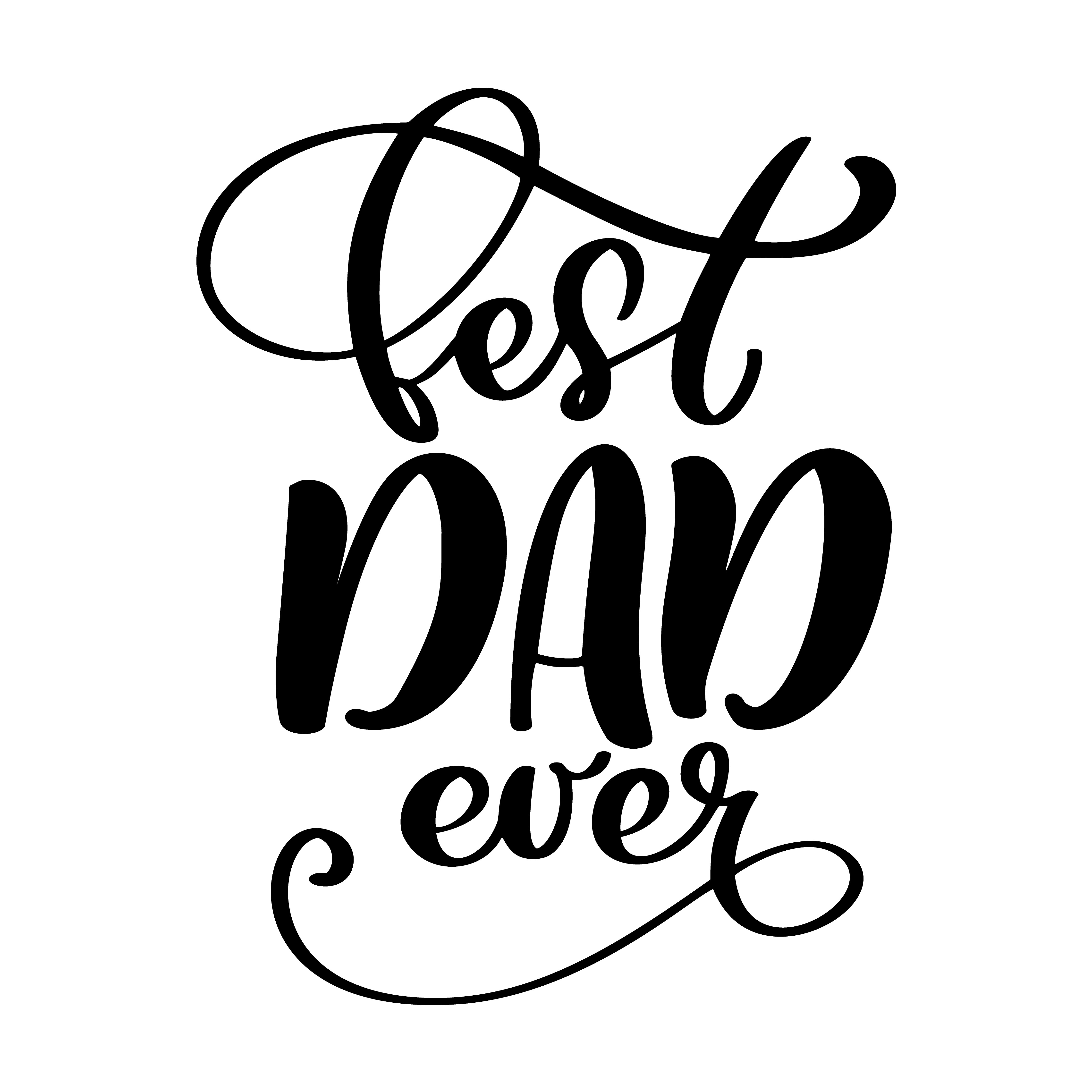 Isolated Happy Fathers Day Quotes On The White Background