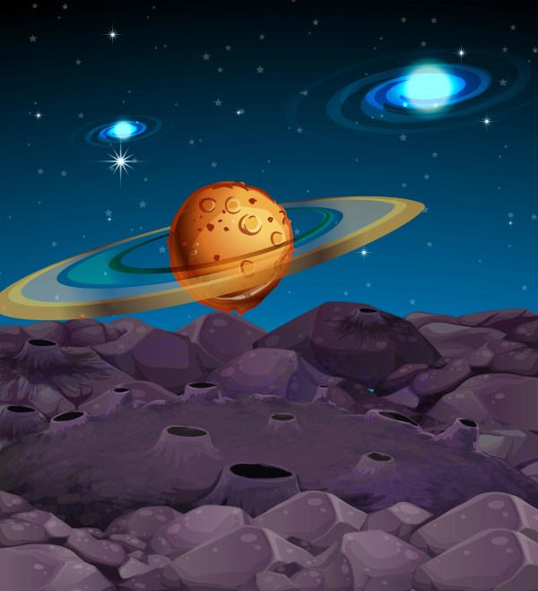 Background scene with planets in galaxy - Download Free ...