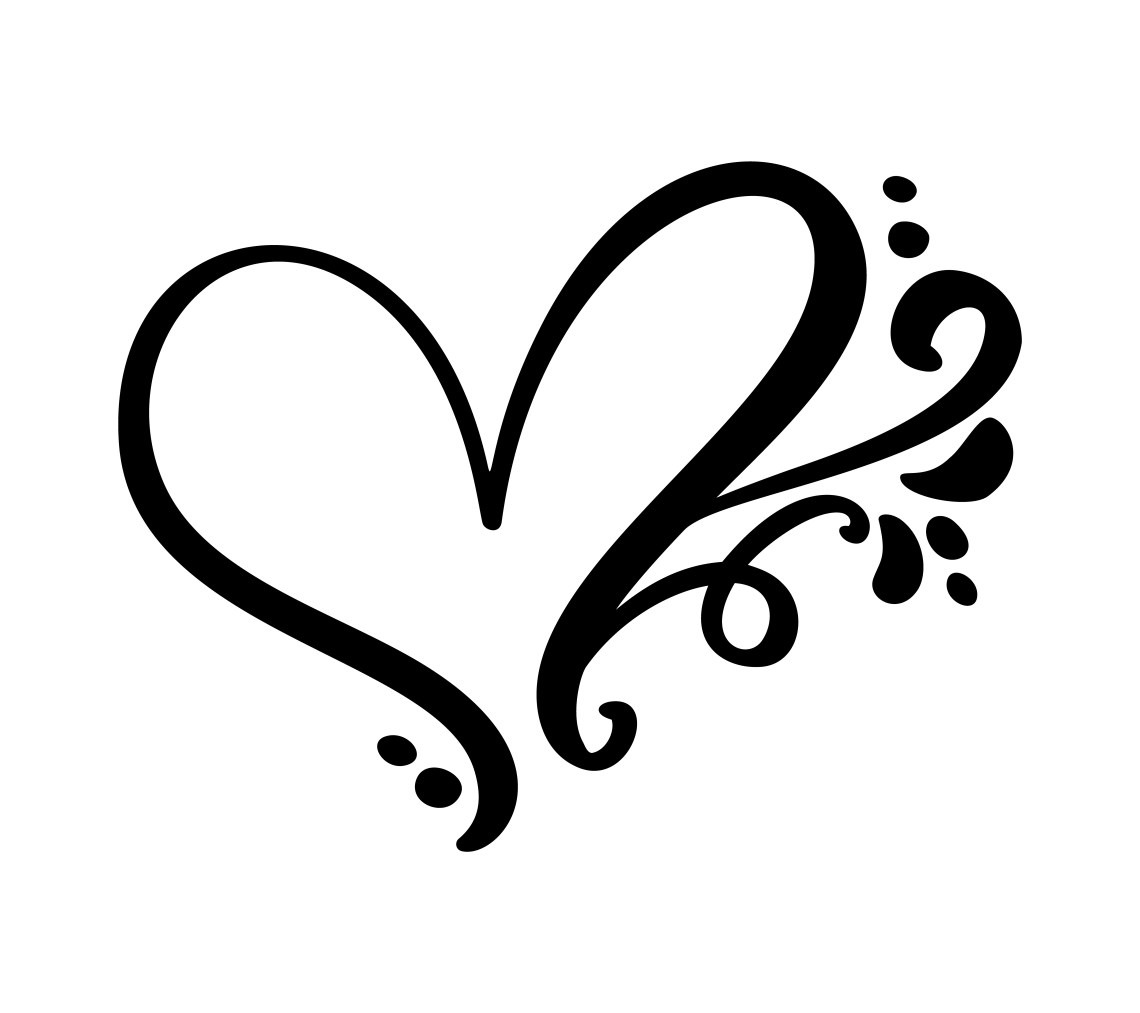 Download Vintage Calligraphic love heart sign - Download Free ...