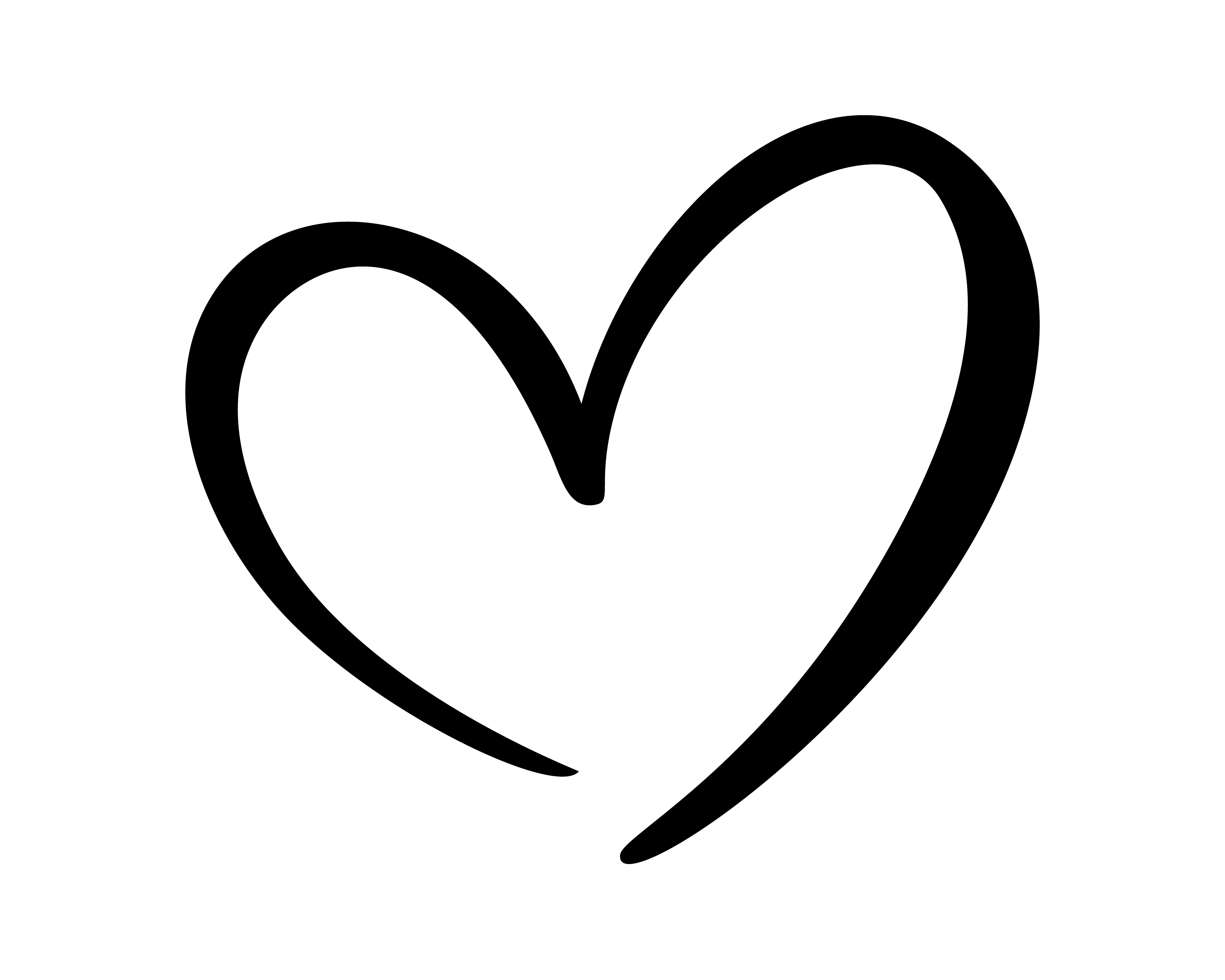 Calligraphic Love Heart Sign