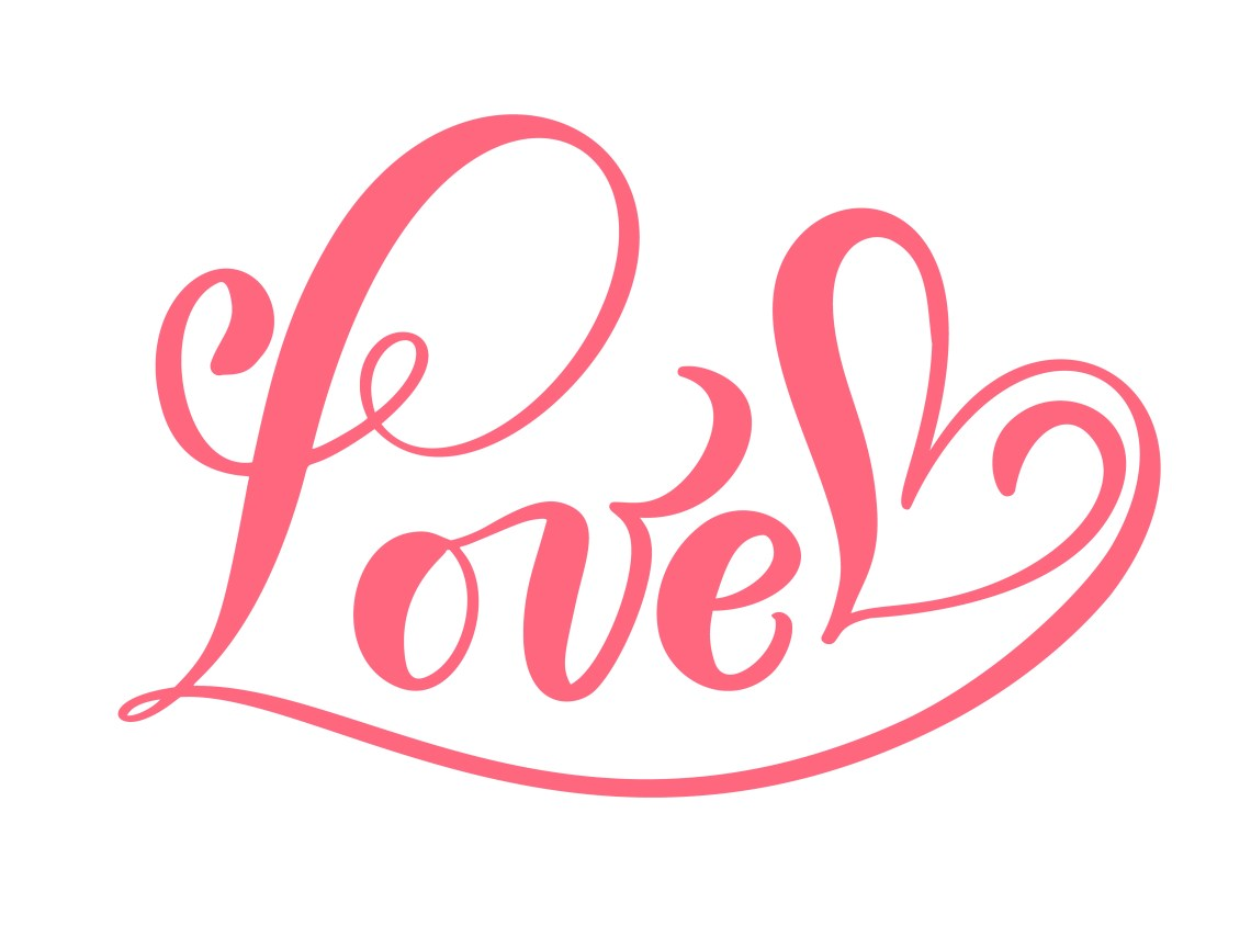 Download Red Calligraphy Word Love - Download Free Vectors, Clipart ...
