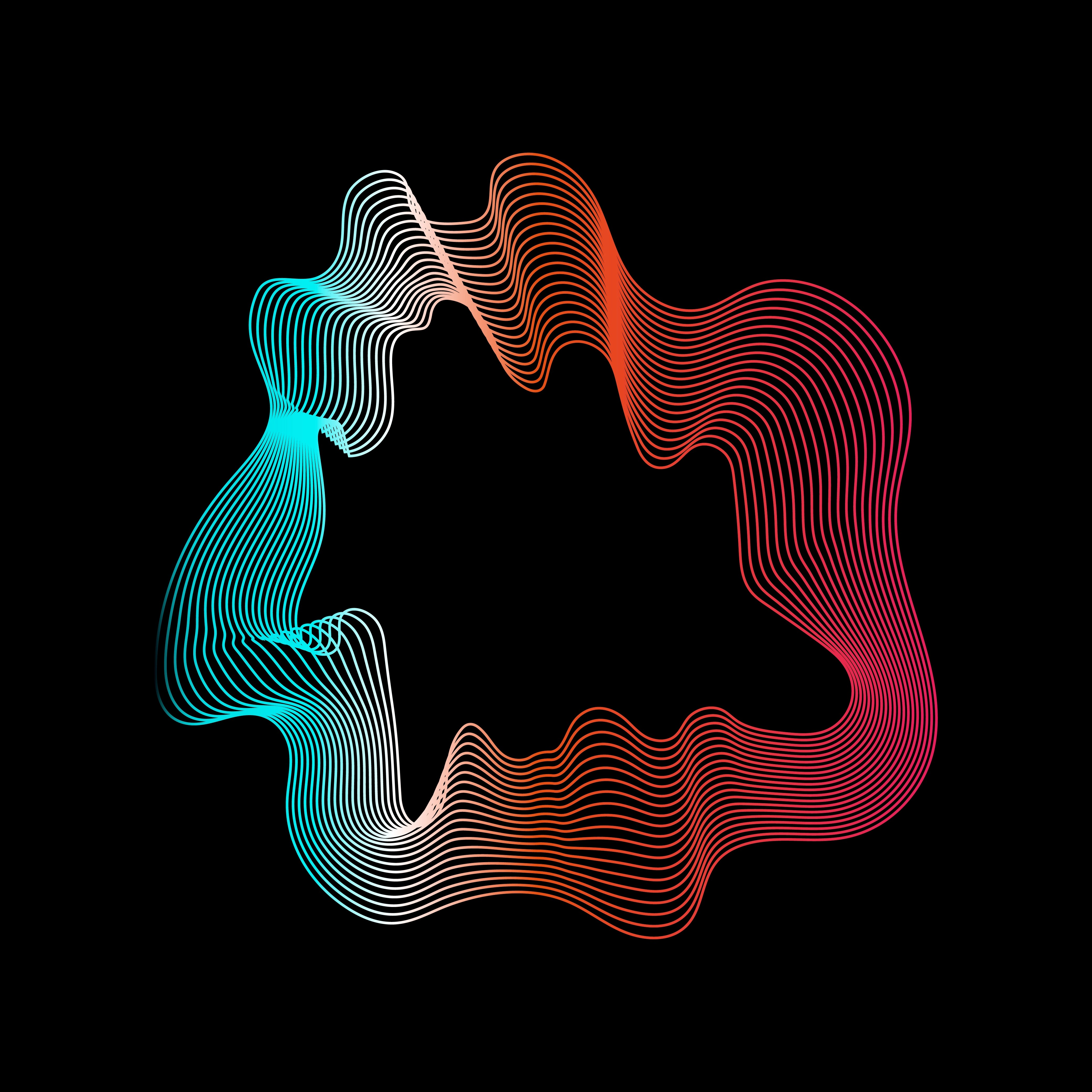 Colorful Abstract Contour Lines Collection