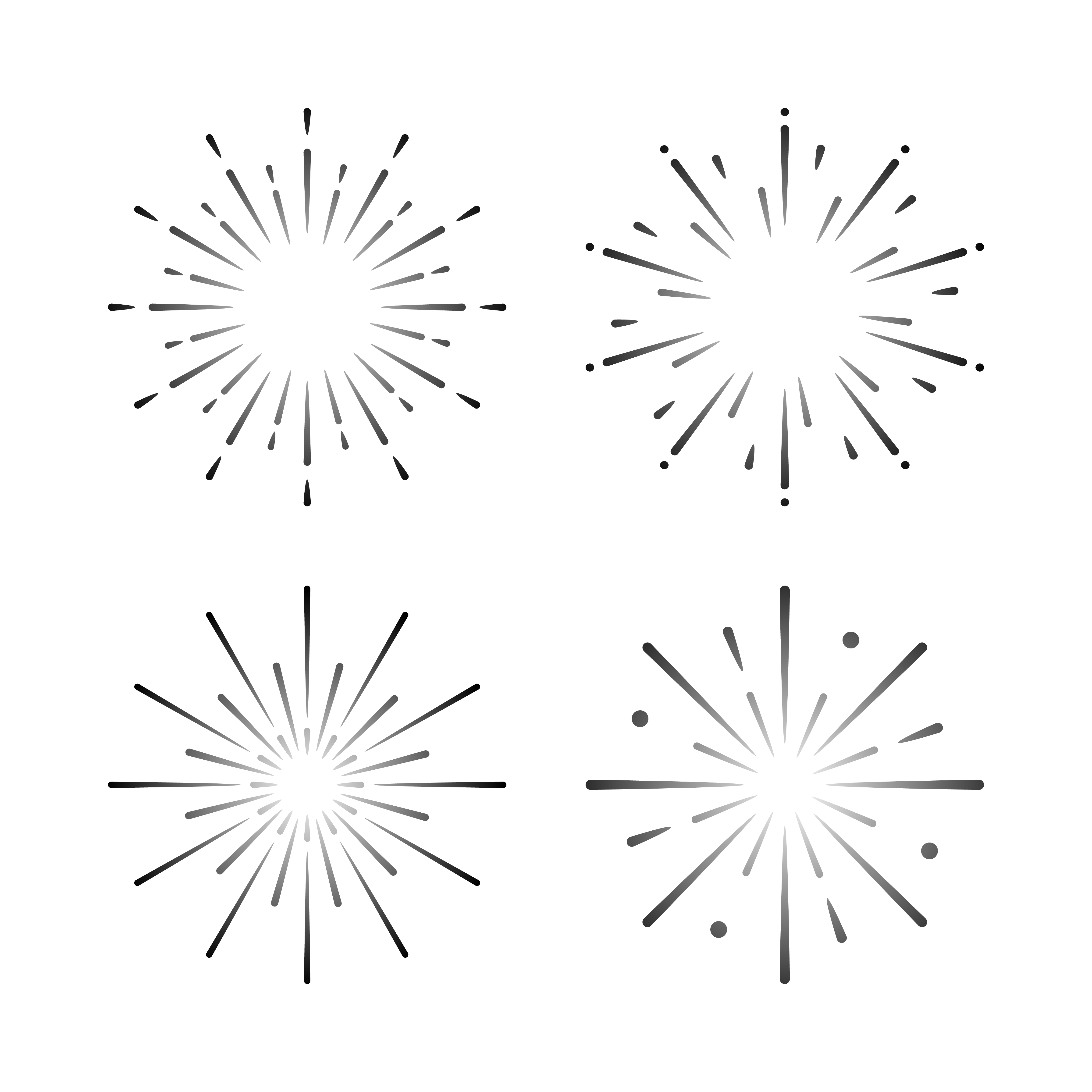 Set Of Firework Explosion Vectors