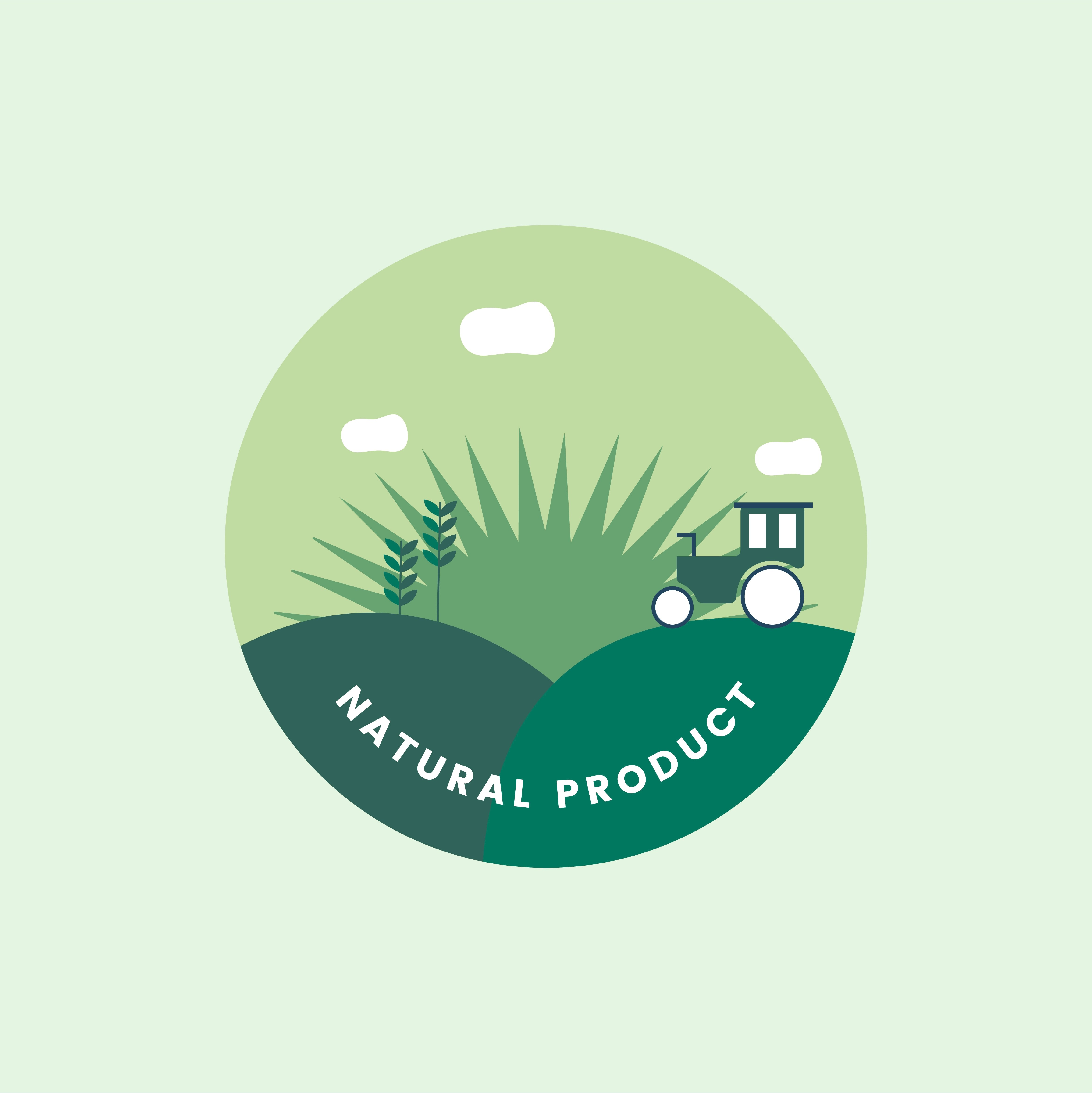 Logo of organic natural product Download Free Vectors