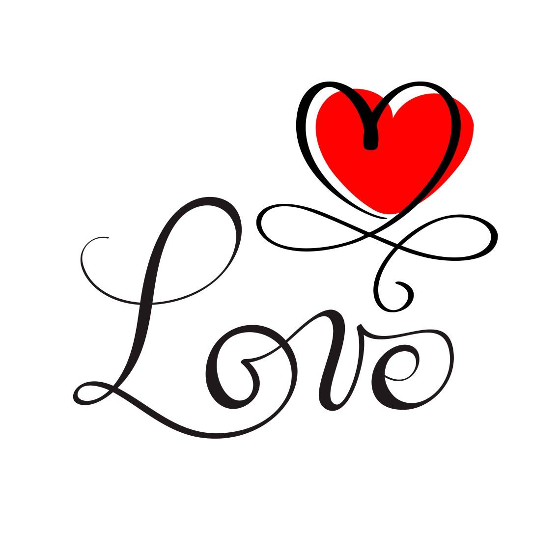 Download LOVE original custom hand lettering, handmade calligraphy ...