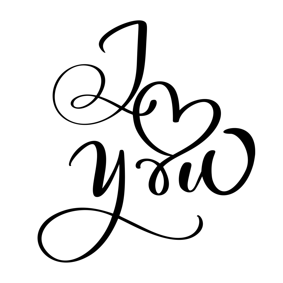 Download I love you. Vector Valentines Day text with glitter ...