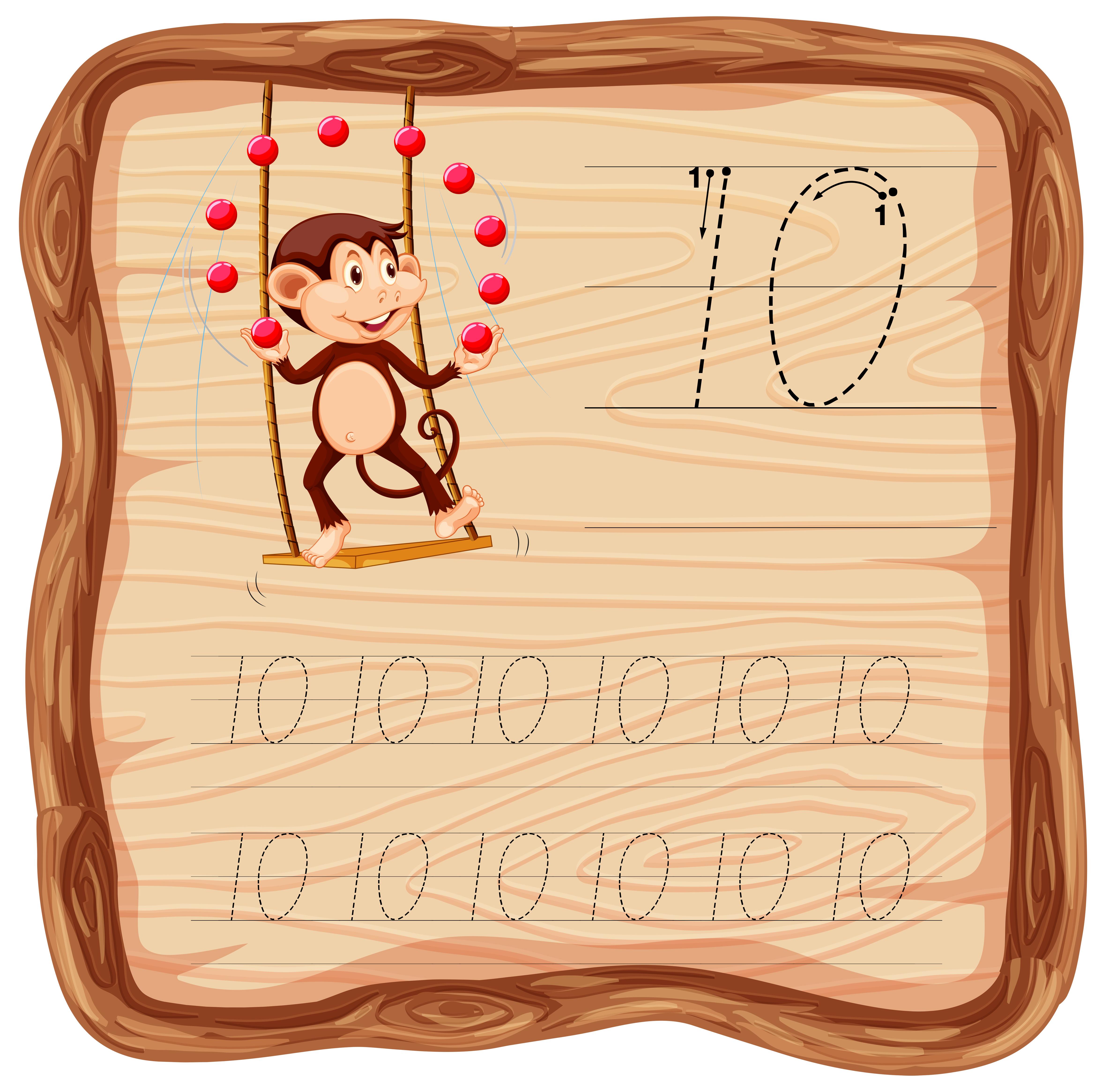 Number Ten Tracing Alphabet Worksheets