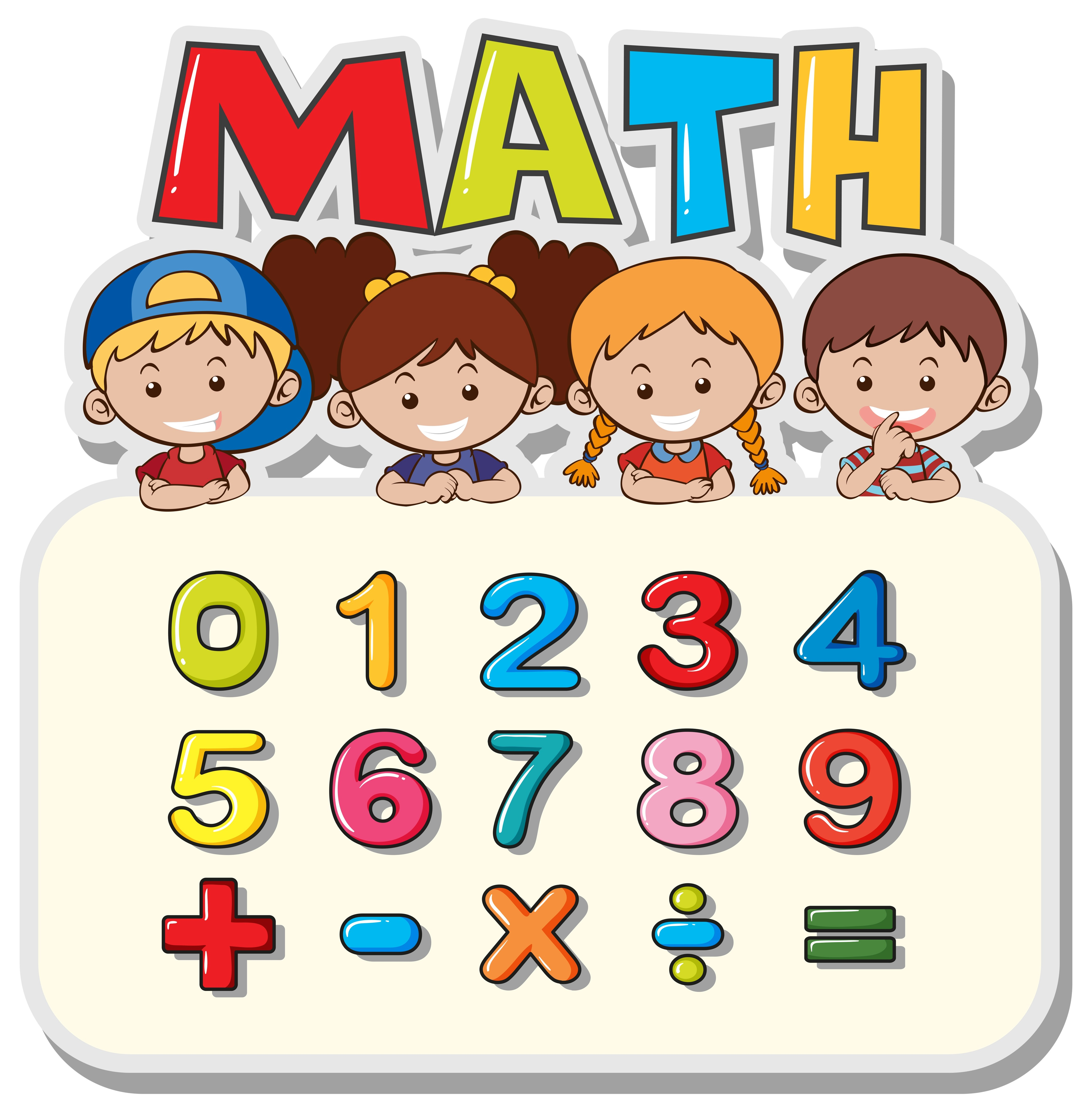 Math Worksheet With Kids And Numbers