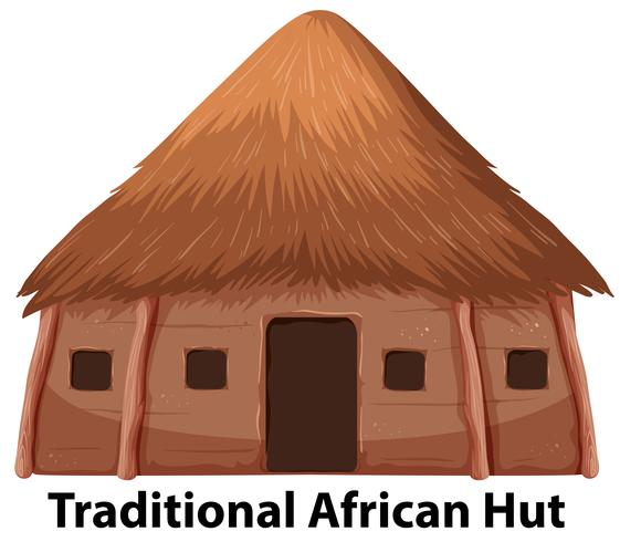 Traditional African Hut Clip Art