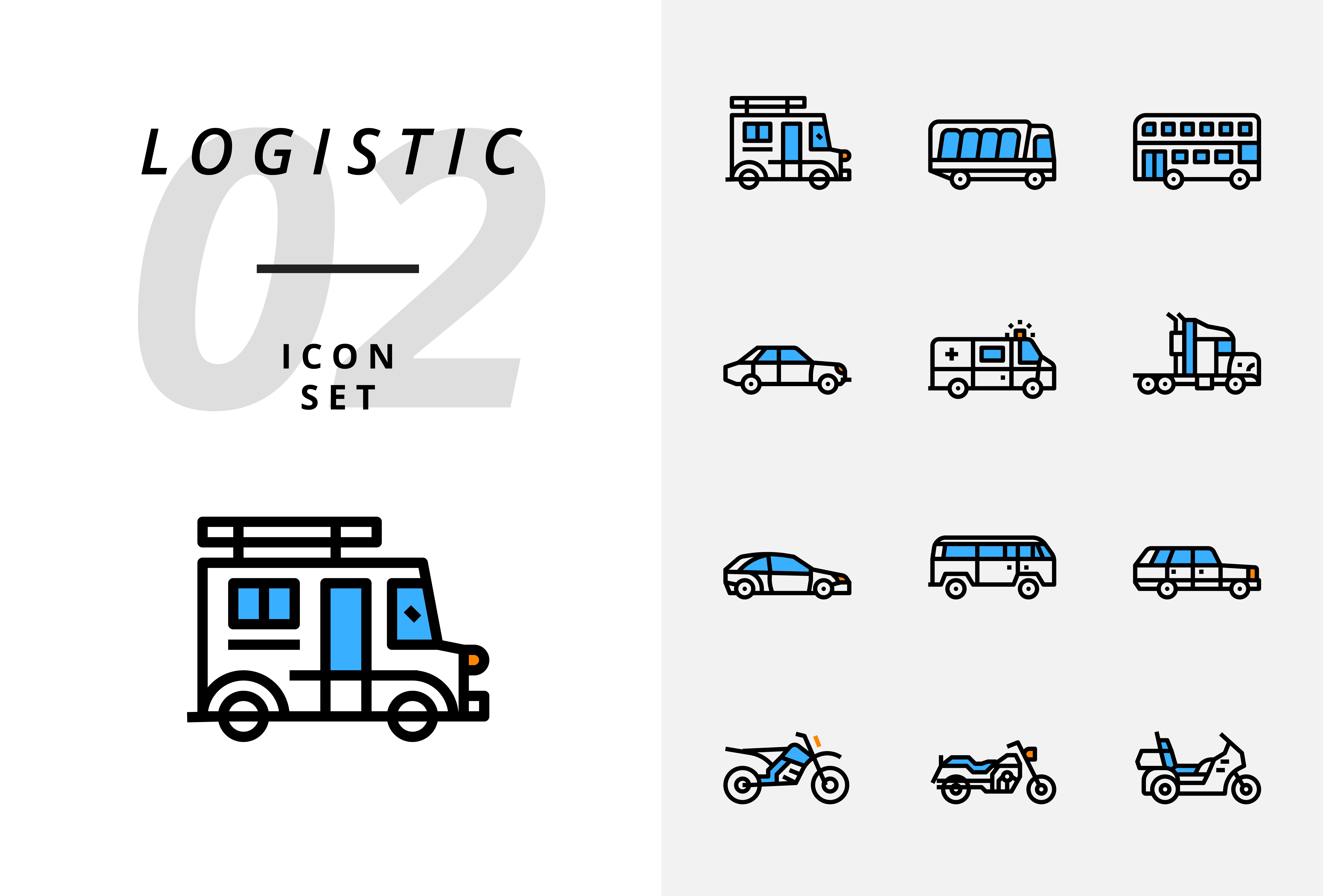 Icon Pack For Logistics Drone Delivery Destination