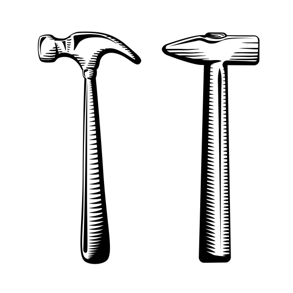 Two isolated hammers - Download Free Vectors, Clipart ...