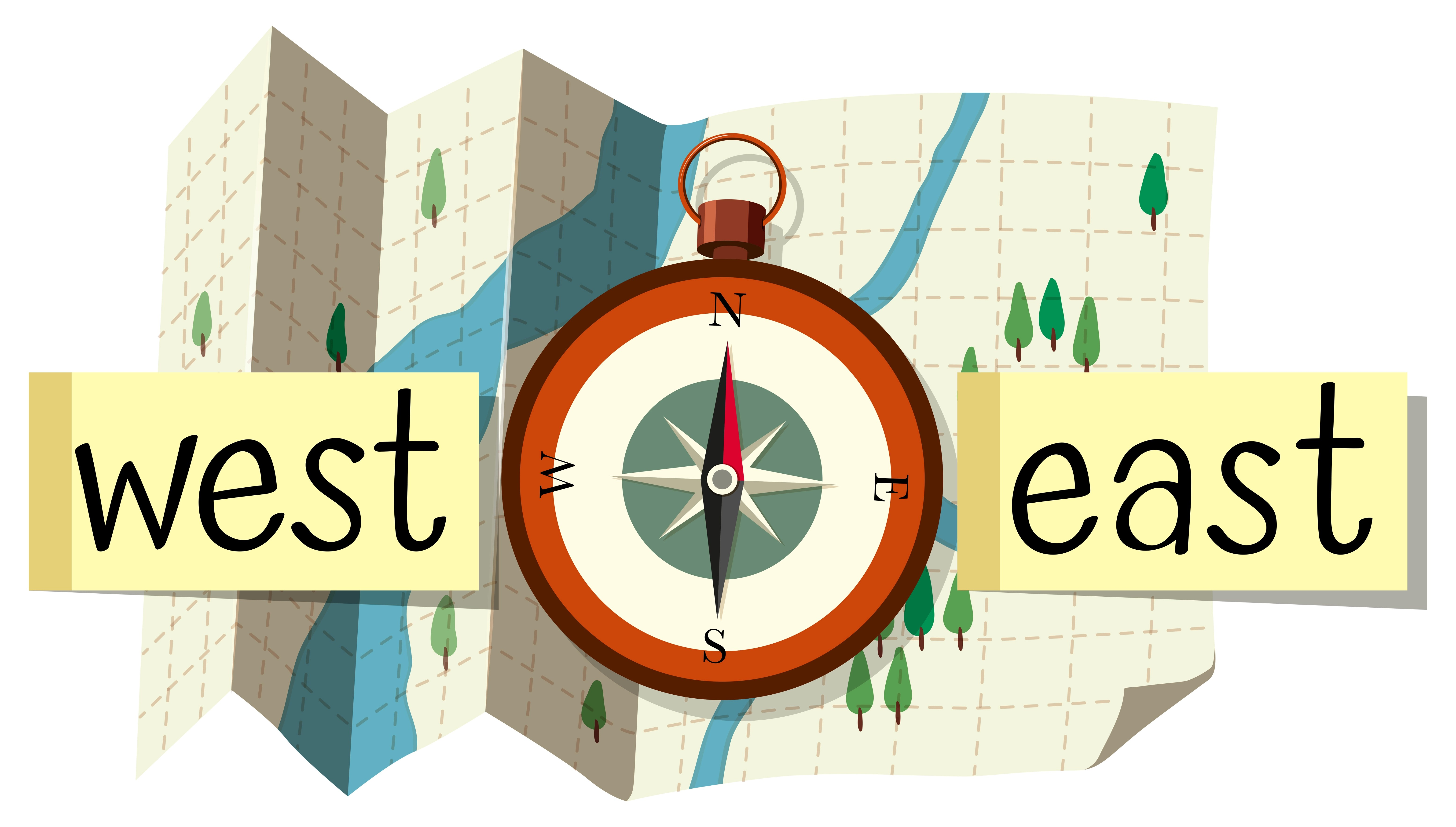 Map And Compass For Direction