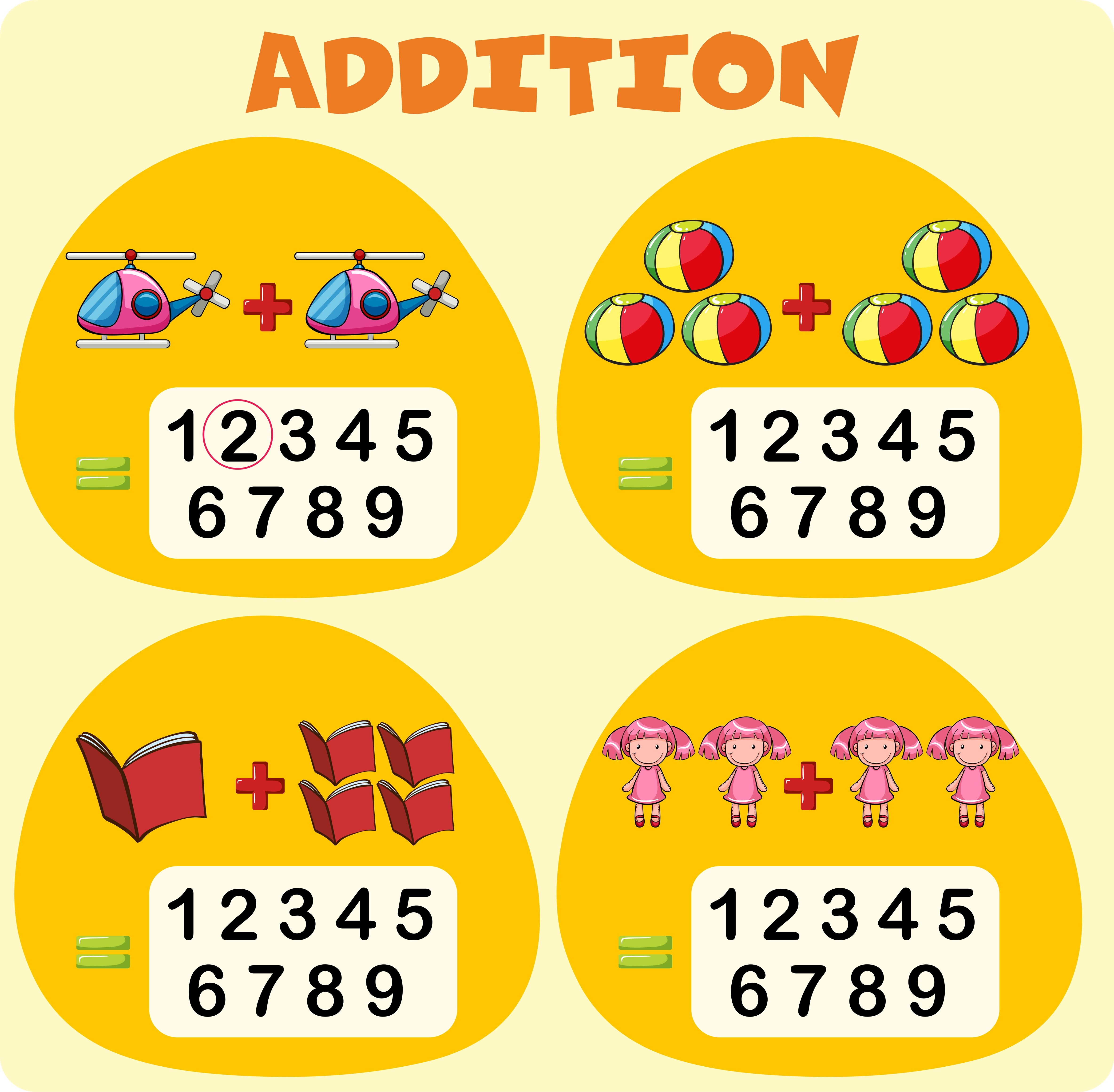 Worksheet Template For Addition